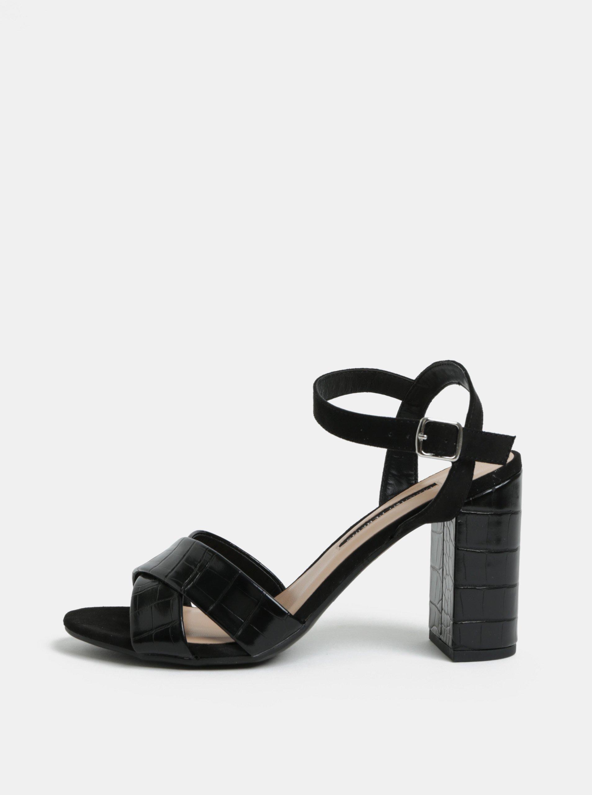 ad2615e0ad Čierne sandále na vysokom podpätku Dorothy Perkins Serena