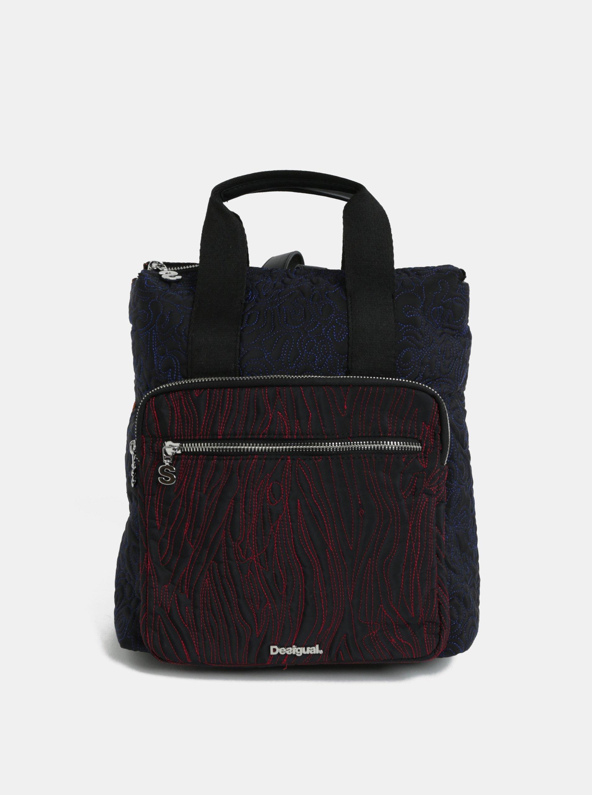 Černý dámský prošívaný batoh Desigual Maldivas