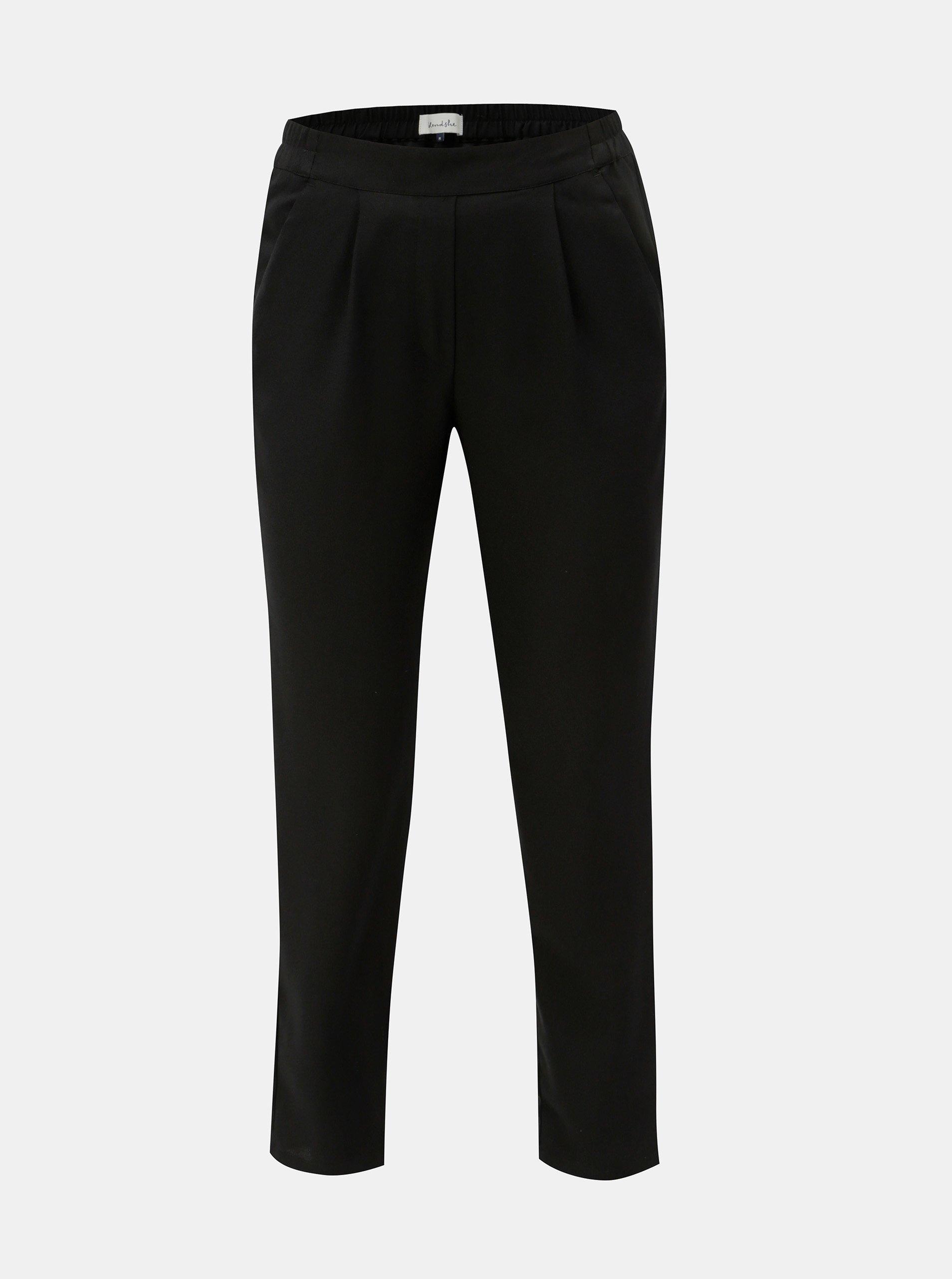 Černé zkrácené kalhoty s vysokým pasem Blendshe Sacha