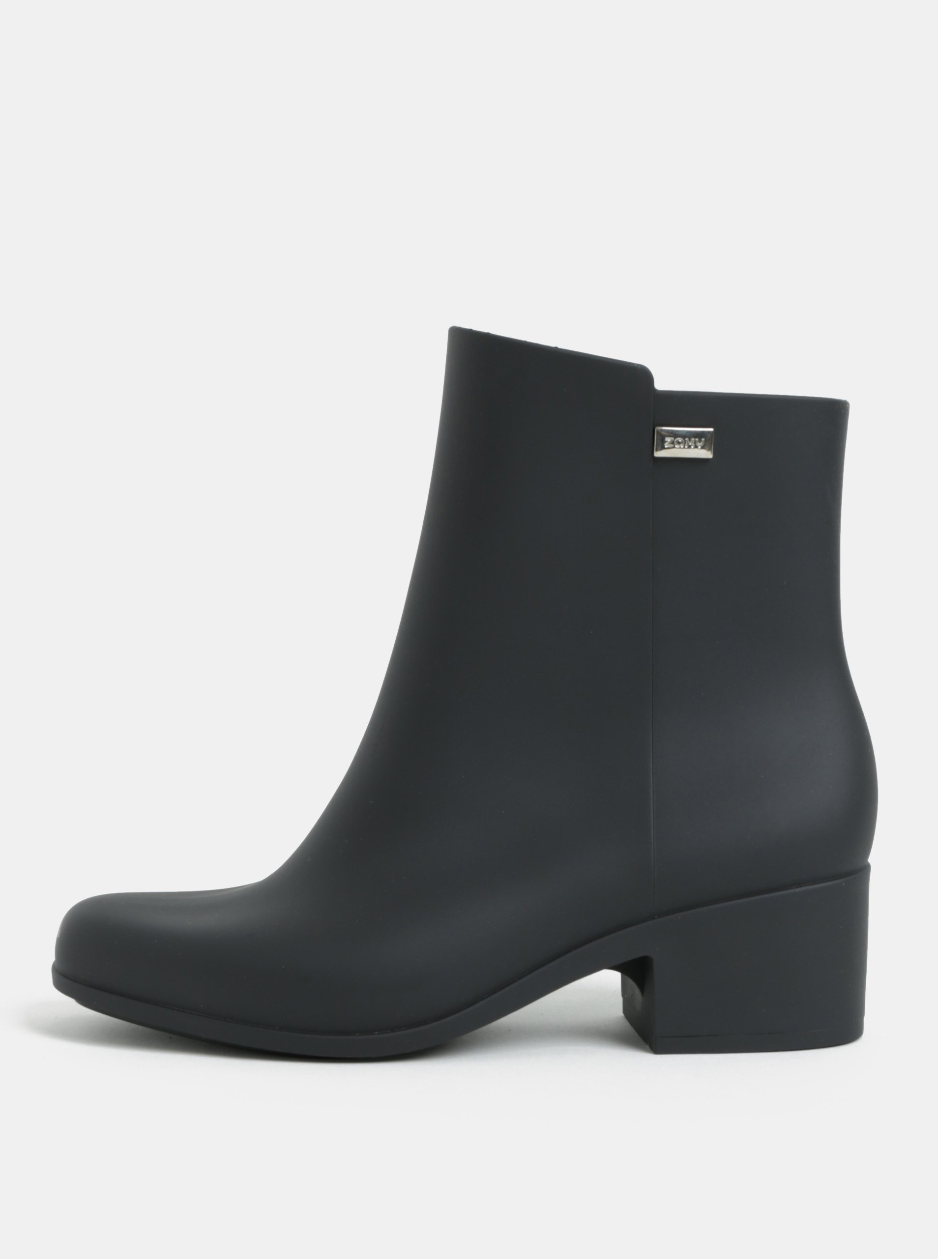 Černé kotníkové boty na nízkém podpatku Zaxy Close Boot b90a53ea20