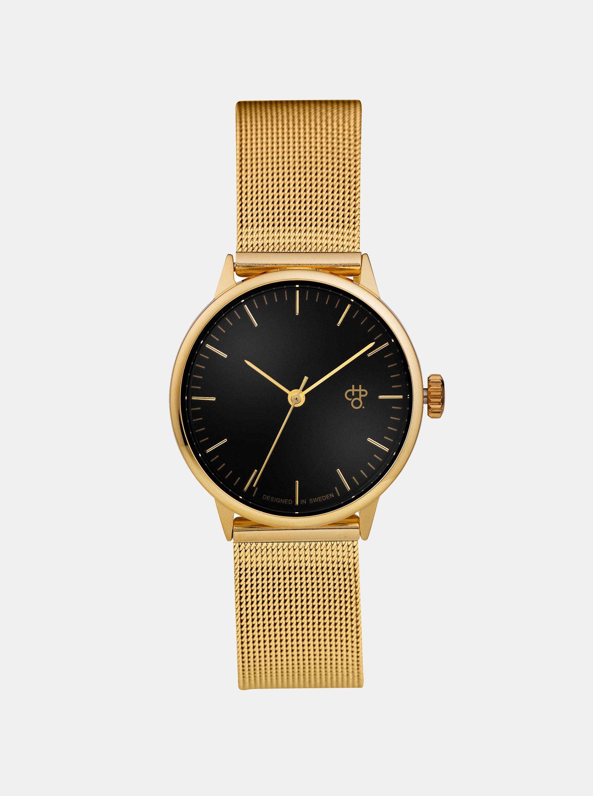 eb8a050d716 Dámské hodinky s nerezovým páskem ve zlaté barvě CHPO Nando Mini Gold