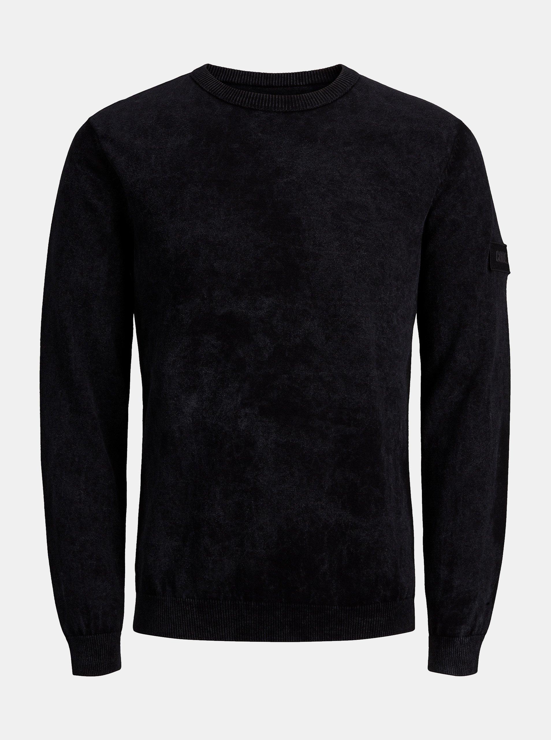 Černý lehký svetr Jack & Jones Knit