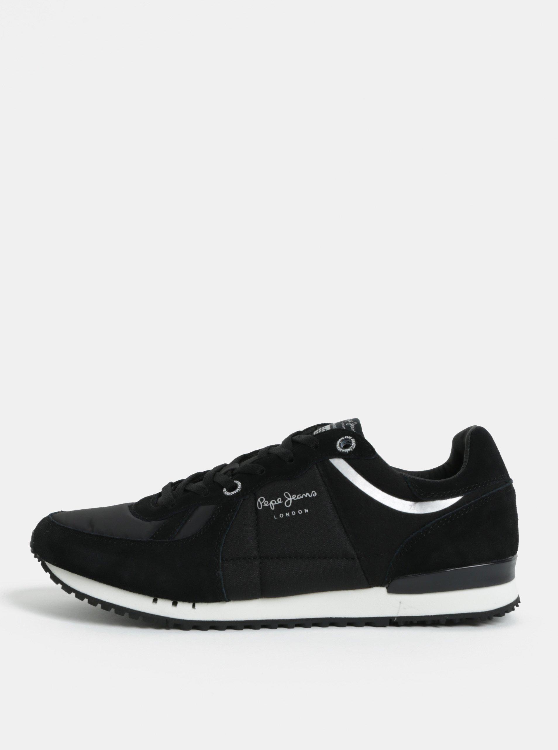 5e4acdf740 Čierne pánske semišové tenisky Pepe Jeans Tinker
