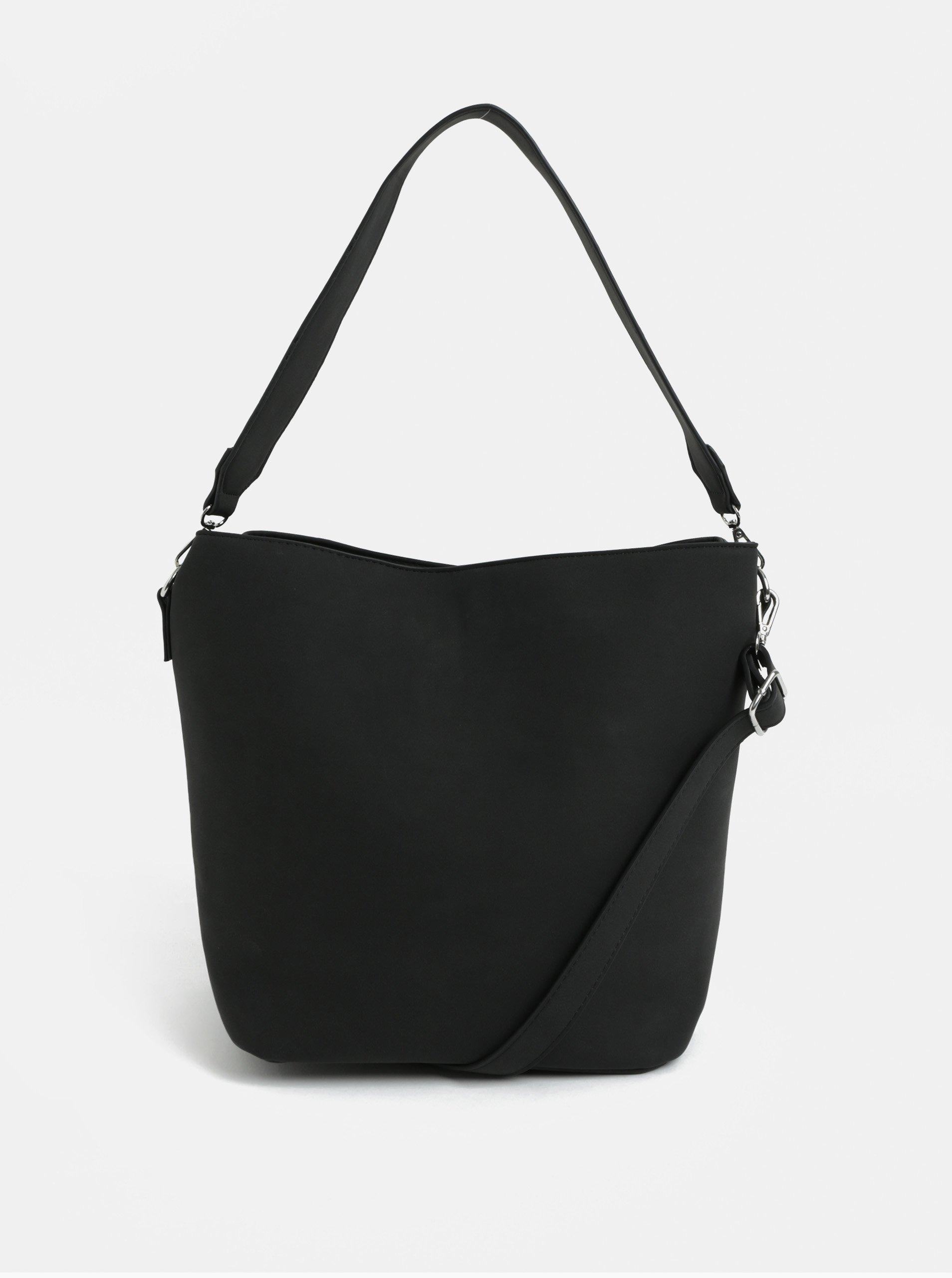 Černá kabelka přes rameno Pieces Therese