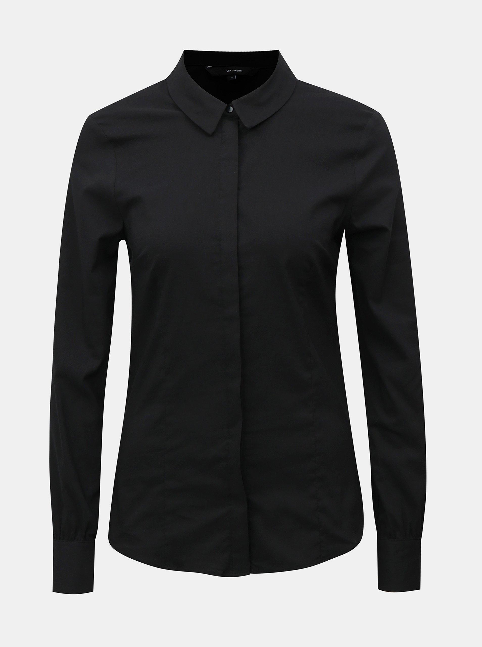 fd66a92ce80 Černé košile s dlouhým rukávem VERO MODA Lilian    topik.cz