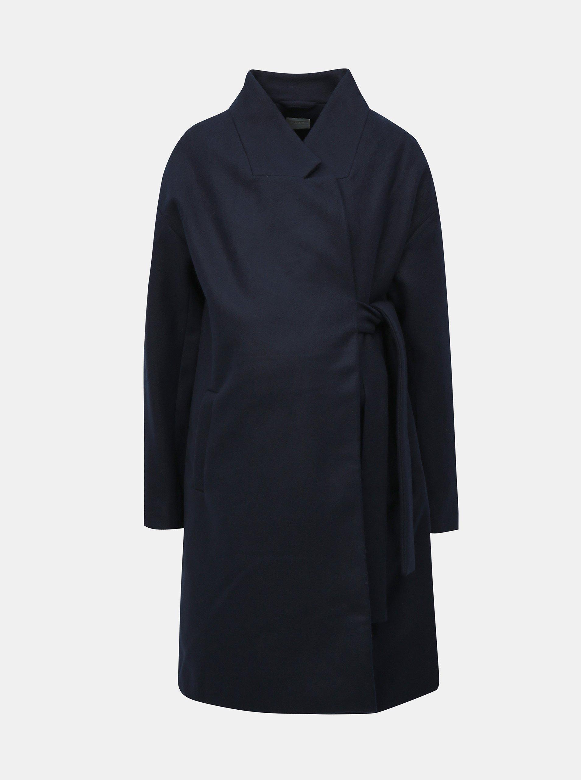 Tmavě modrý těhotenský kabát s páskem Mama.licious Hazel