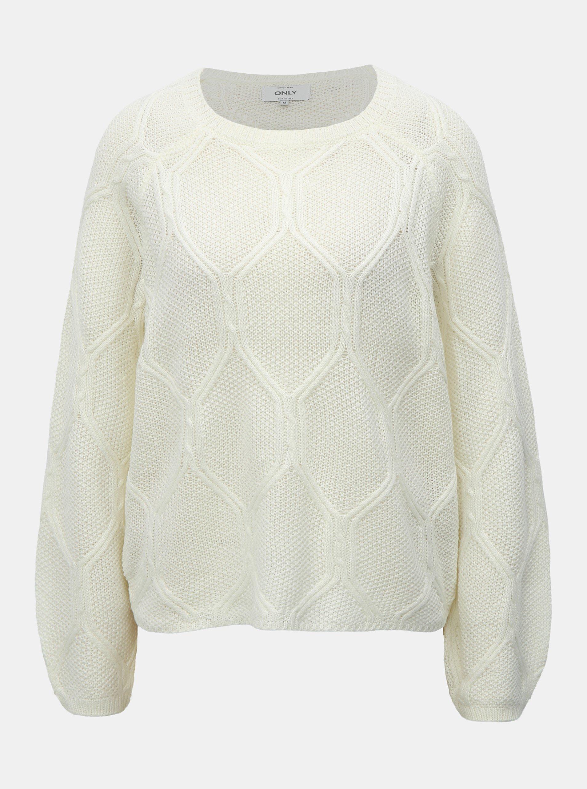 Bílý svetr ONLY Felina