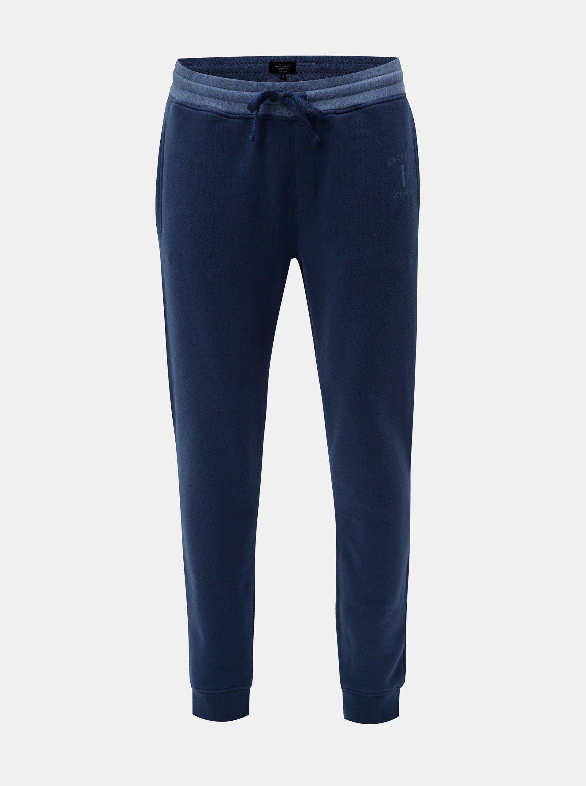 Modré classic fit tepláky Hackett London