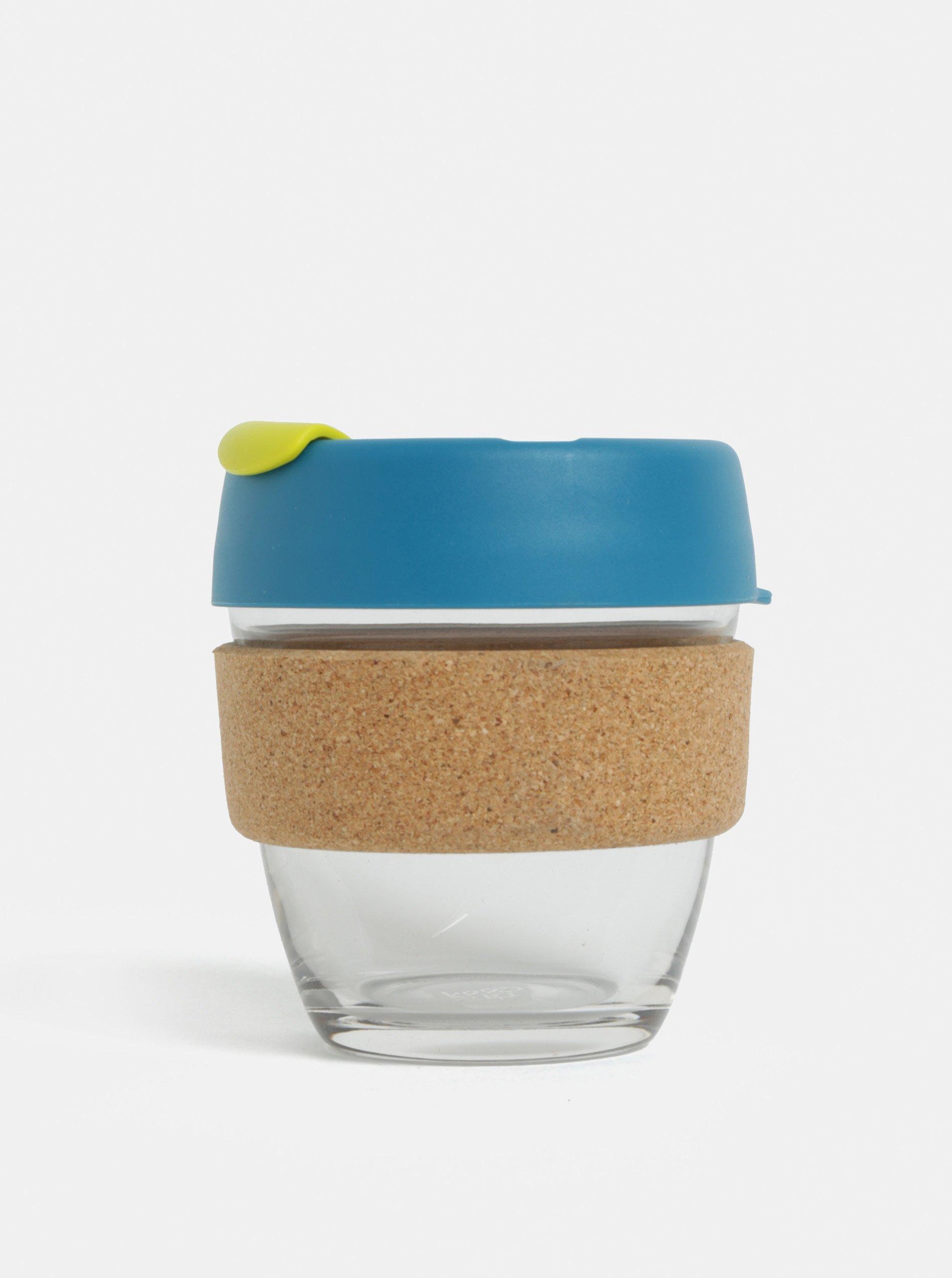 Modrý sklenený cestovný hrnček KeepCup Original Brew Small