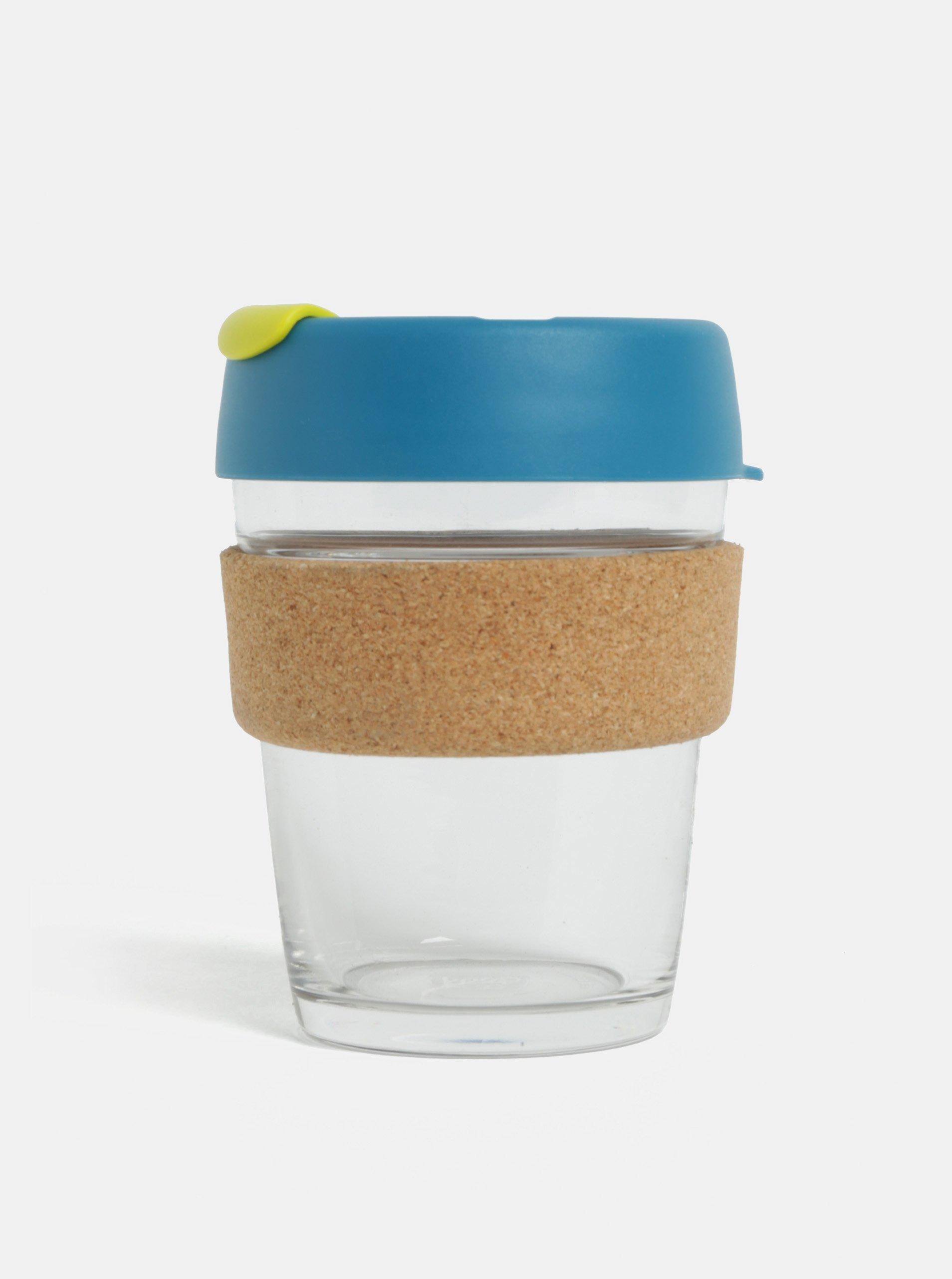 Fotografie Modrý skleněný cestovní hrnek KeepCup Original Brew Medium