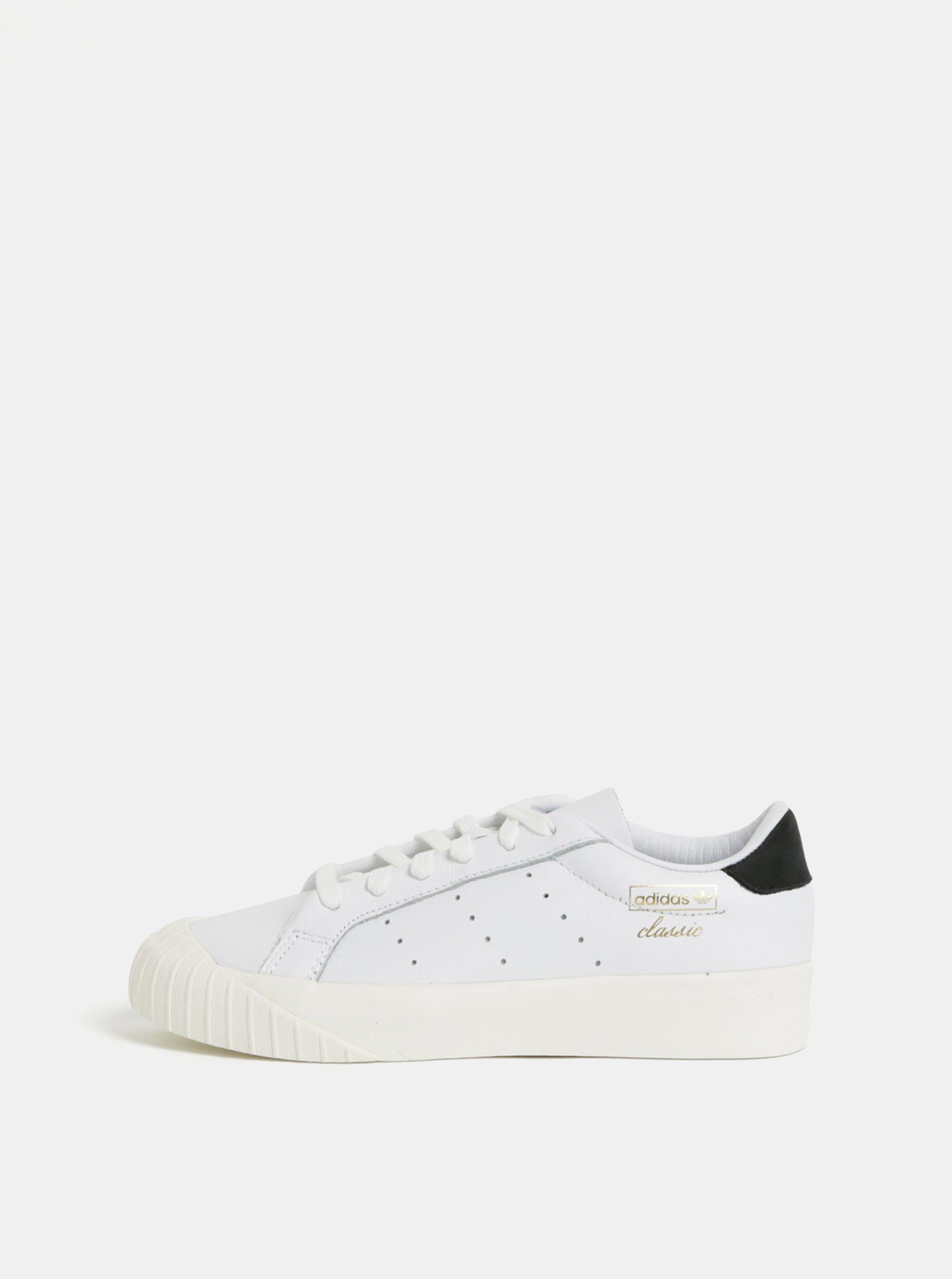 Bílé dámské kožené tenisky adidas Originals Everyn