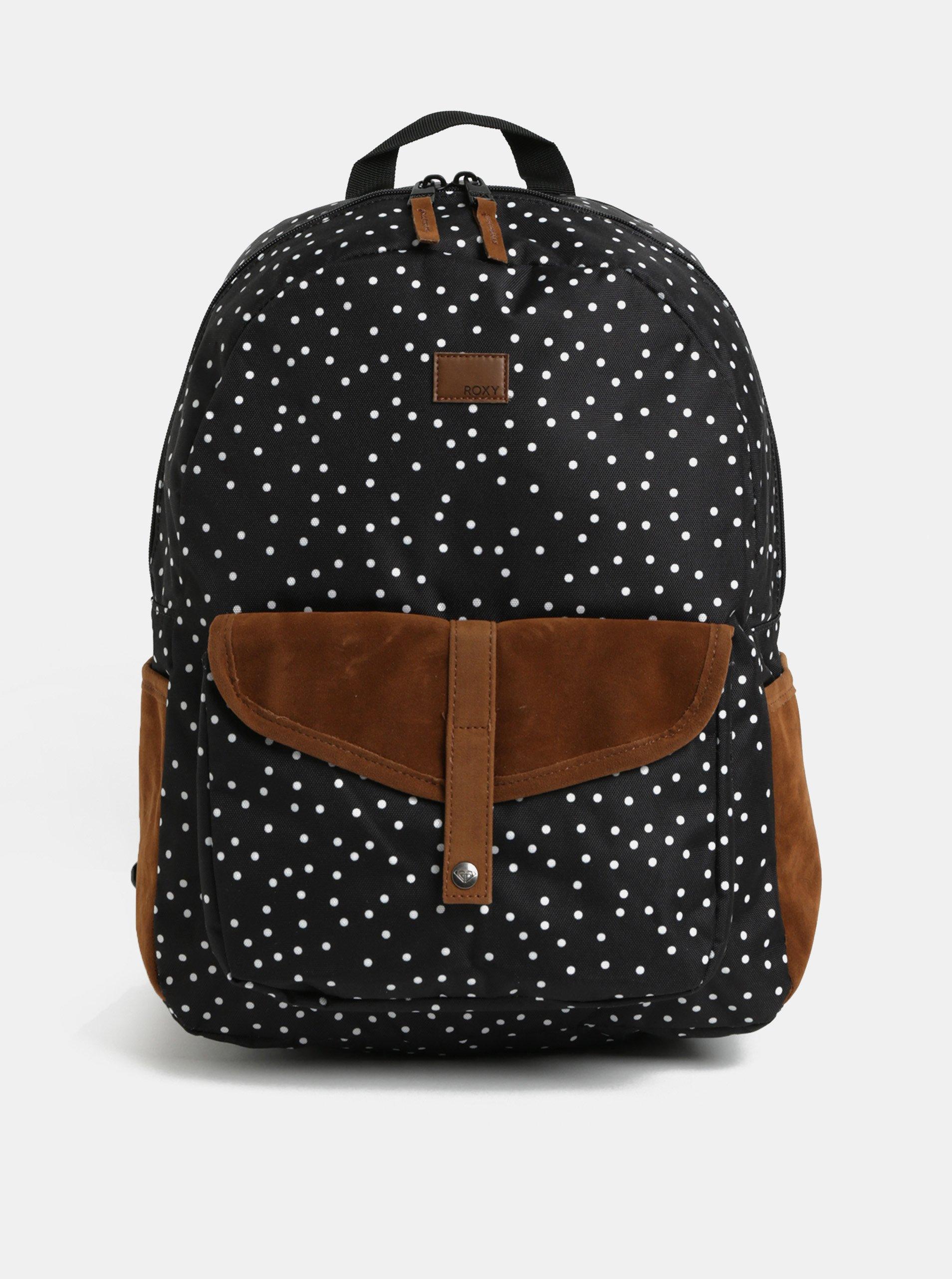 Hnědo-černý vzorovaný batoh batoh Roxy Shadow