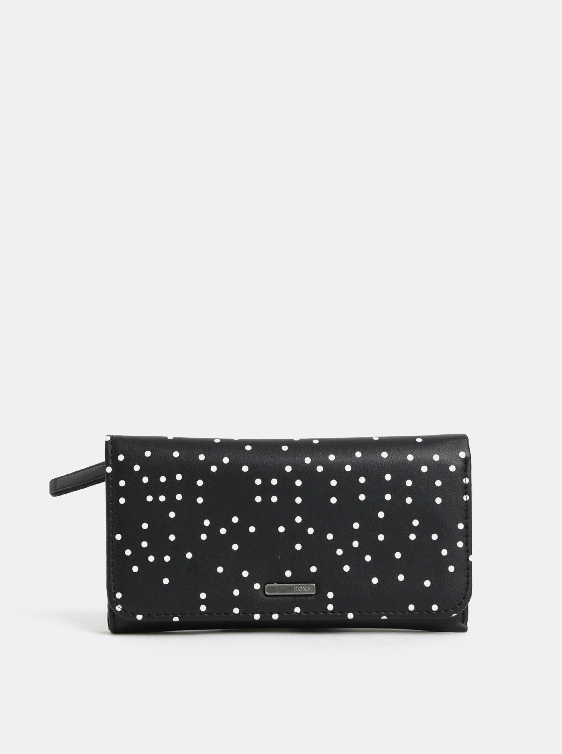 fe297a6f93 Čierna bodkovaná peňaženka Roxy