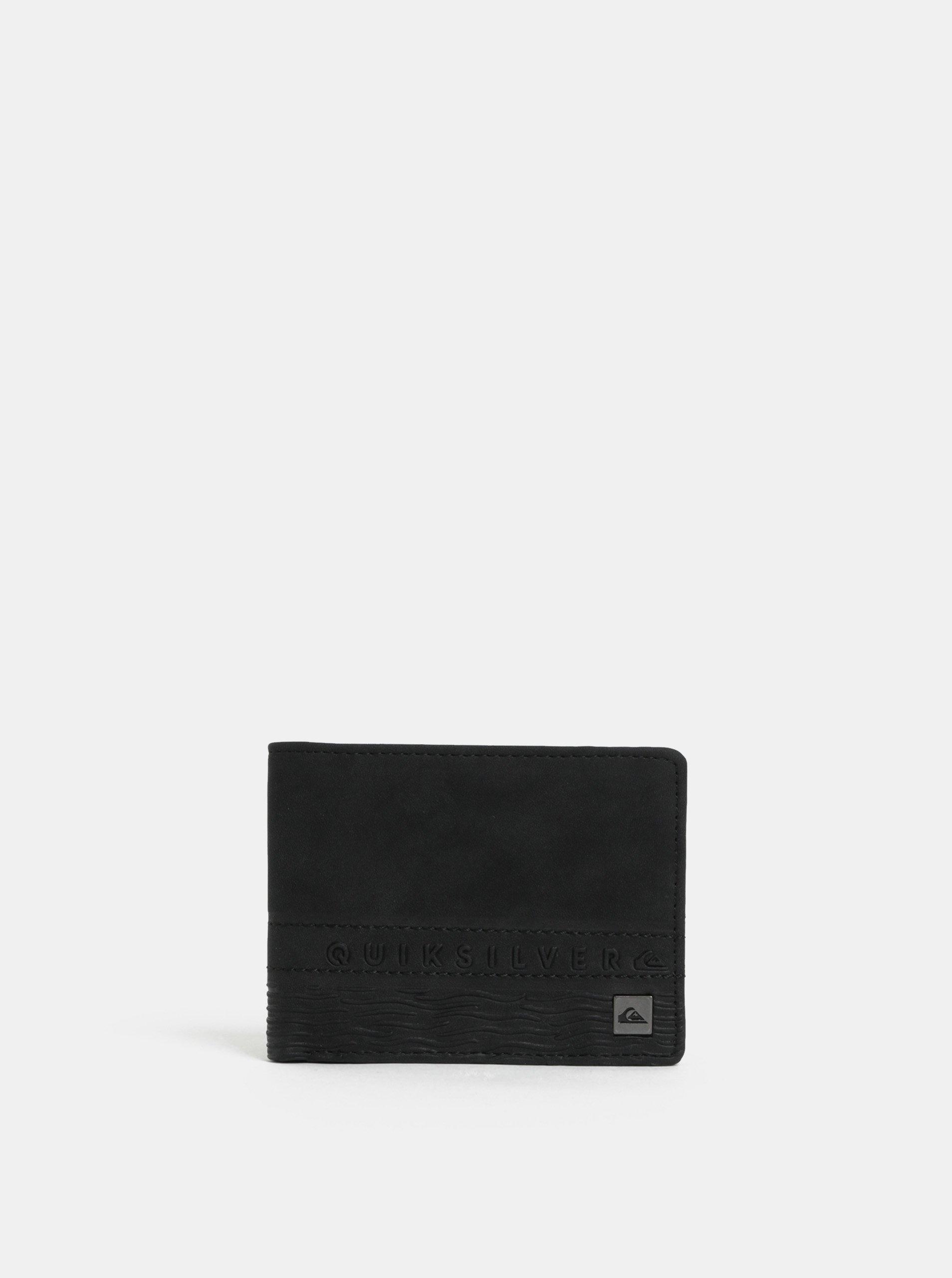 Černá pánská koženková peněženka Quiksilver
