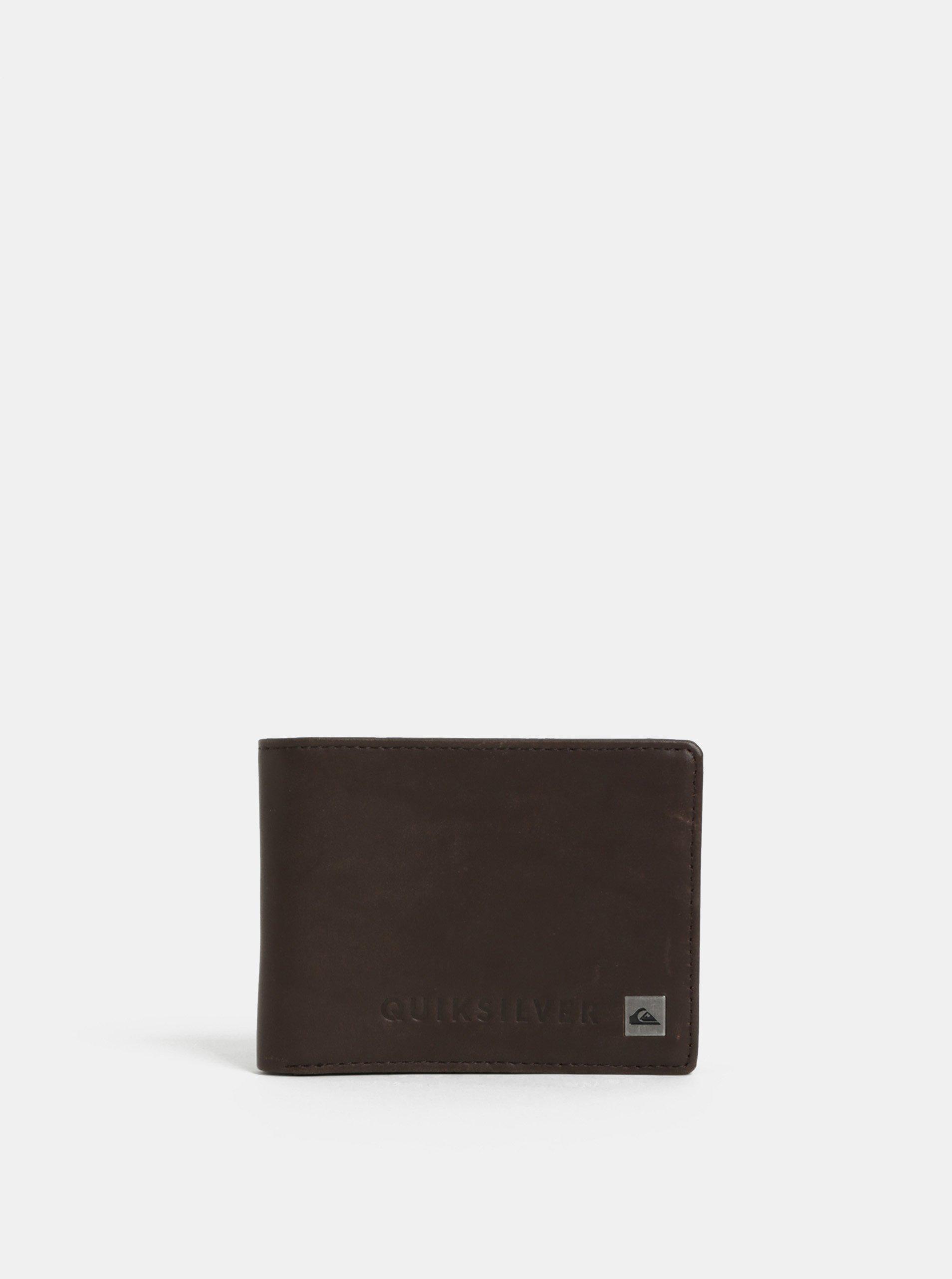Hnědá pánská kožená peněženka Quiksilver