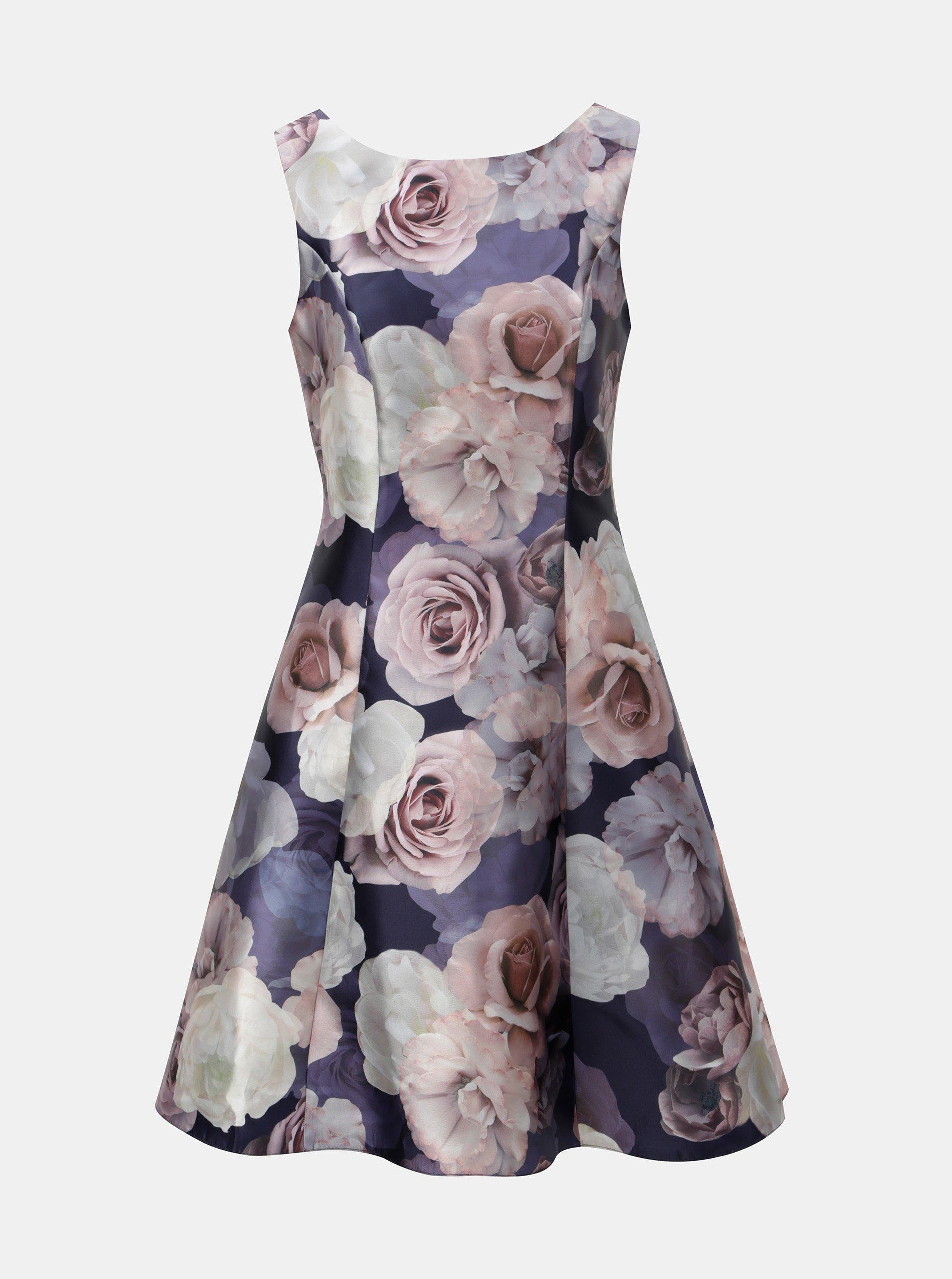 c5a162295fd2 Ružovo-fialové kvetované šaty Dorothy Perkins