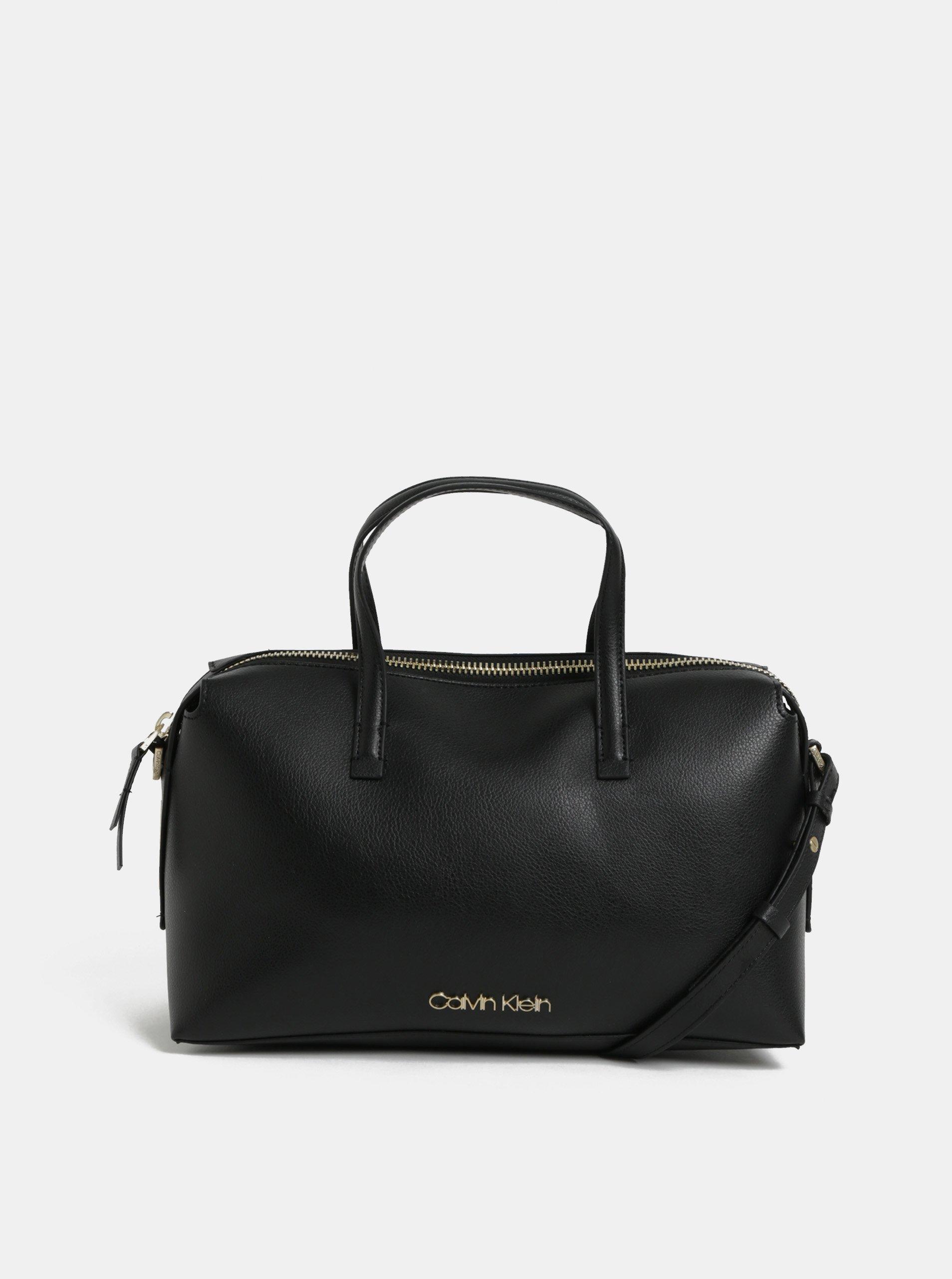 5915c546f6 Čierna koženková kabelka Calvin Klein Jeans
