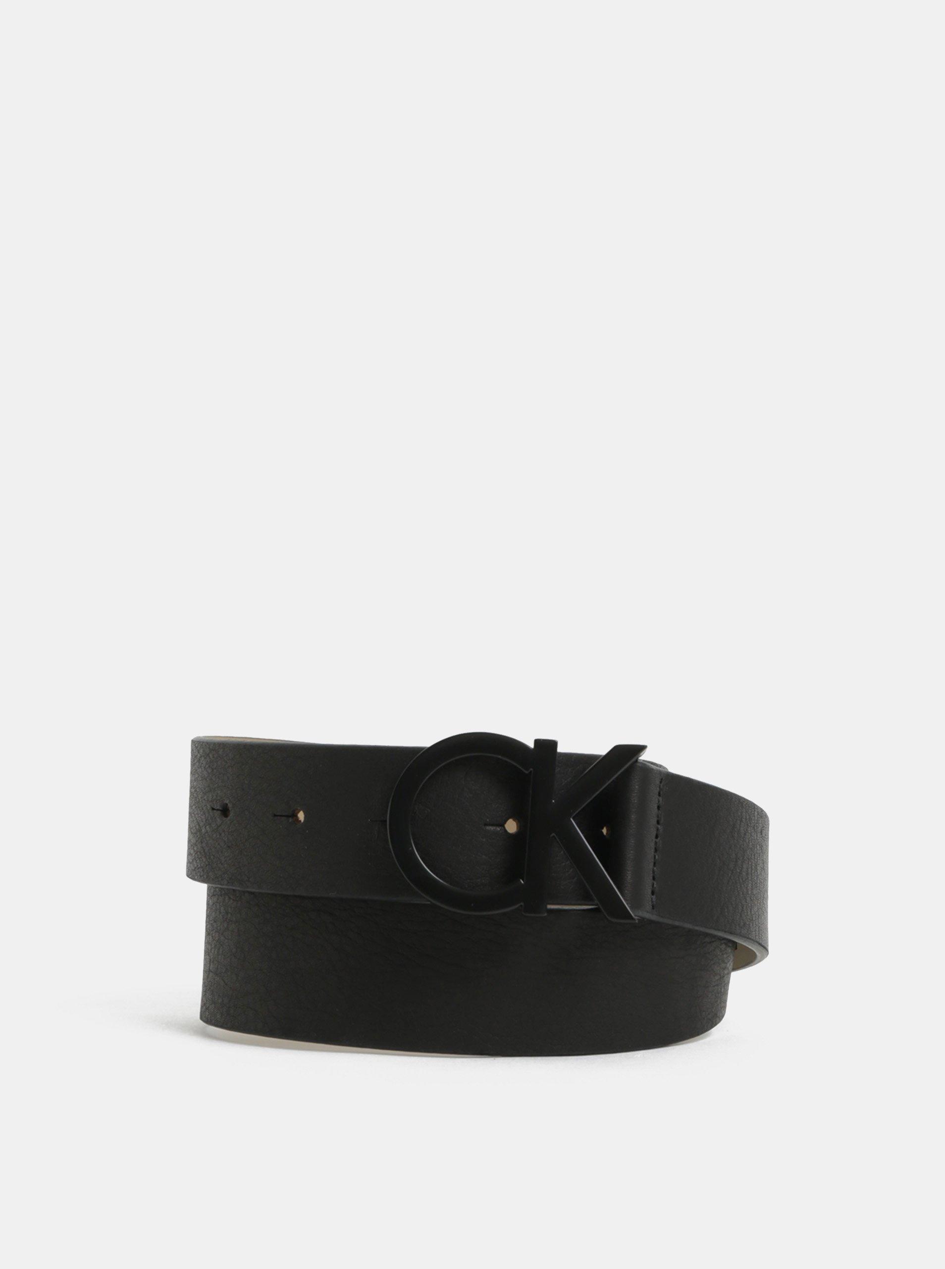Černý dámský kožený pásek Calvin Klein Jeans