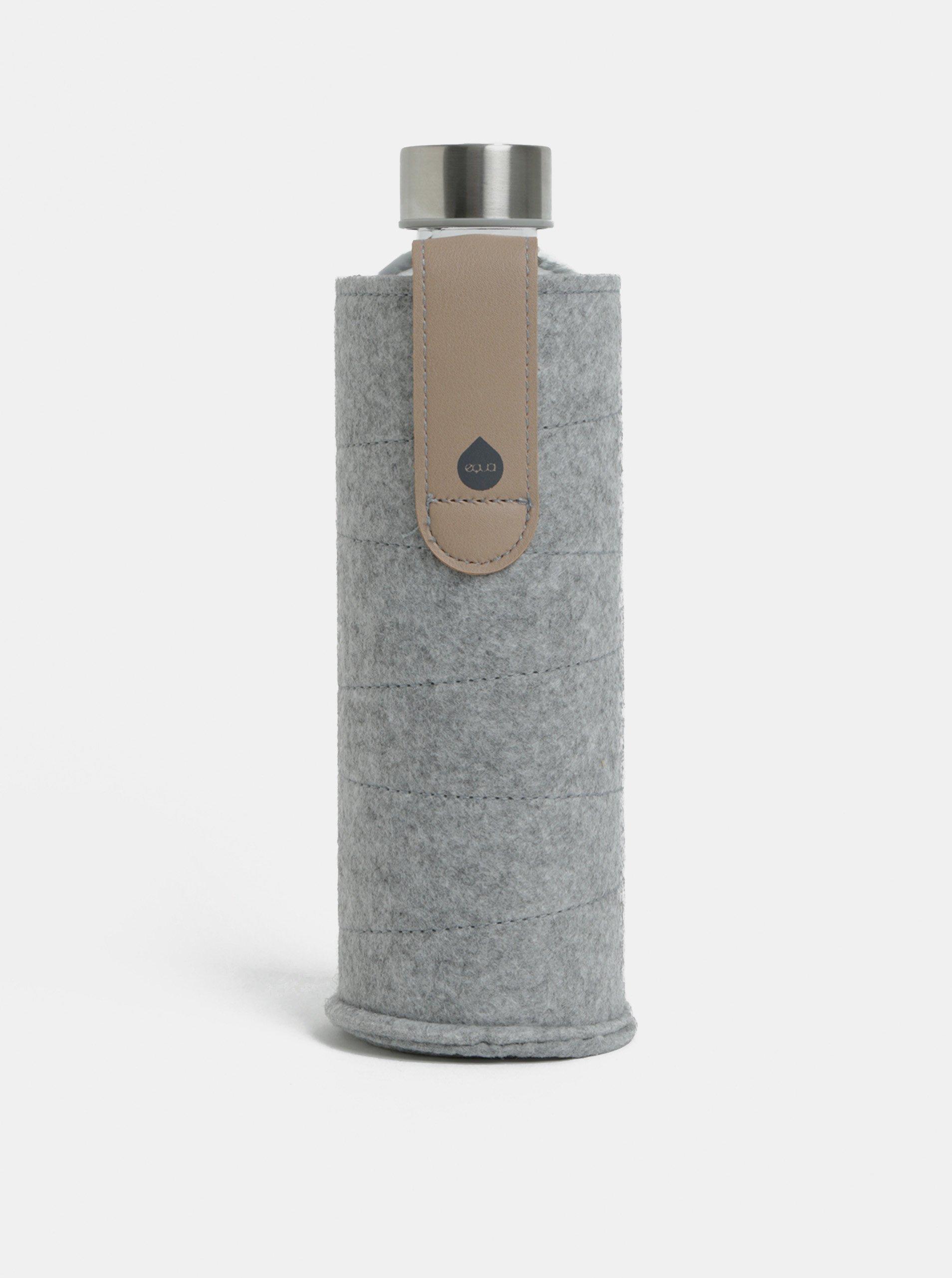Sklenená fľaša na vodu s textilným obalom EQUA 750 ml