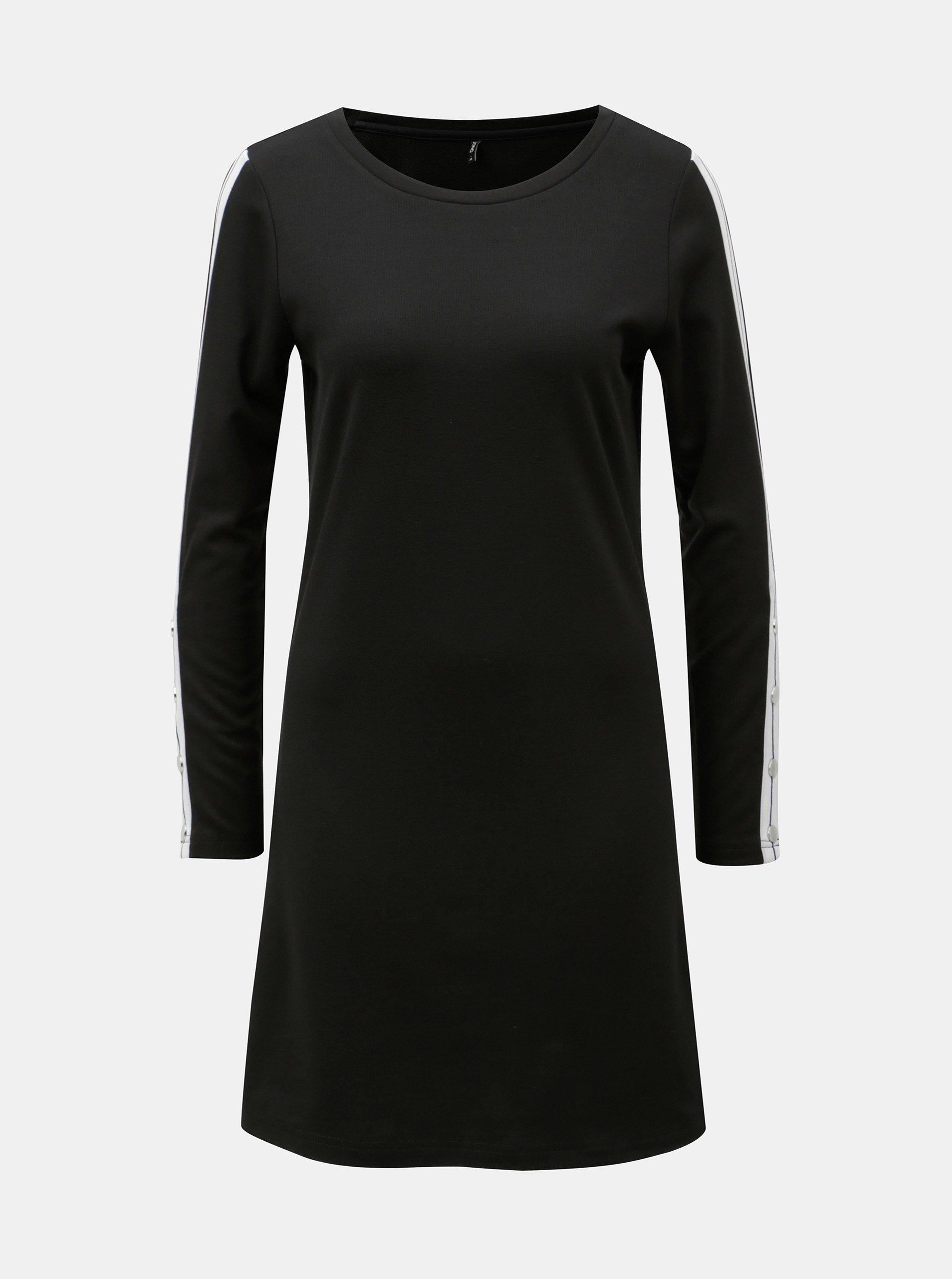Černé šaty dlouhým rukávem ONLY Brilliant 5db49da5a7