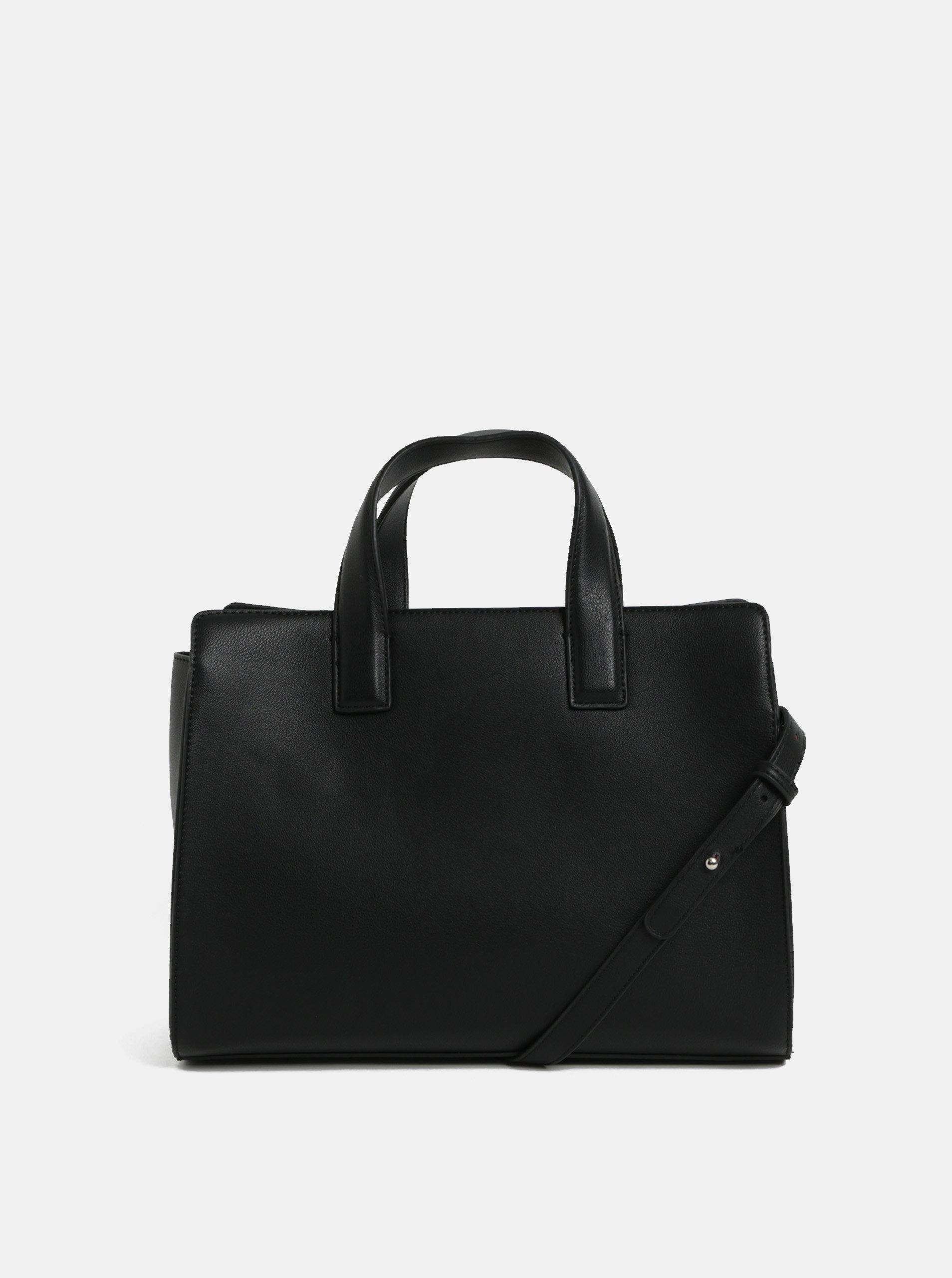 Černá kabelka s nastavitelným popruhem Pieces Fenne