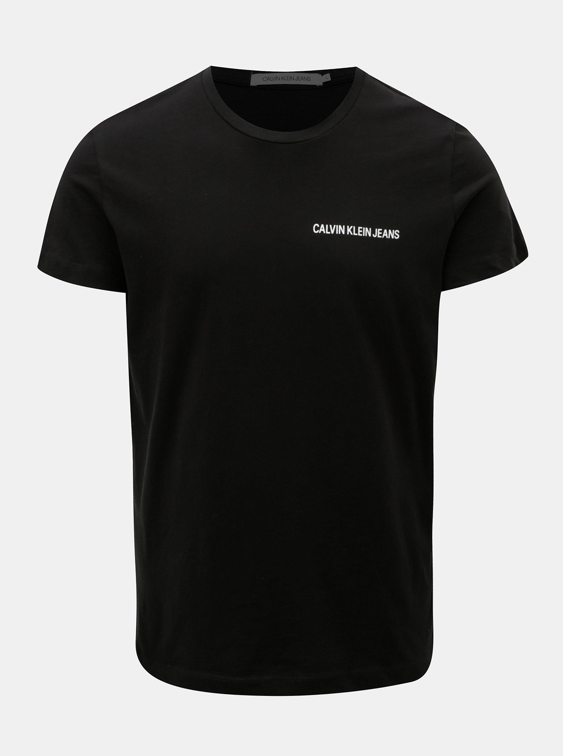 Černé pánské tričko s potiskem Calvin Klein Jeans 8f4c7cb58eb