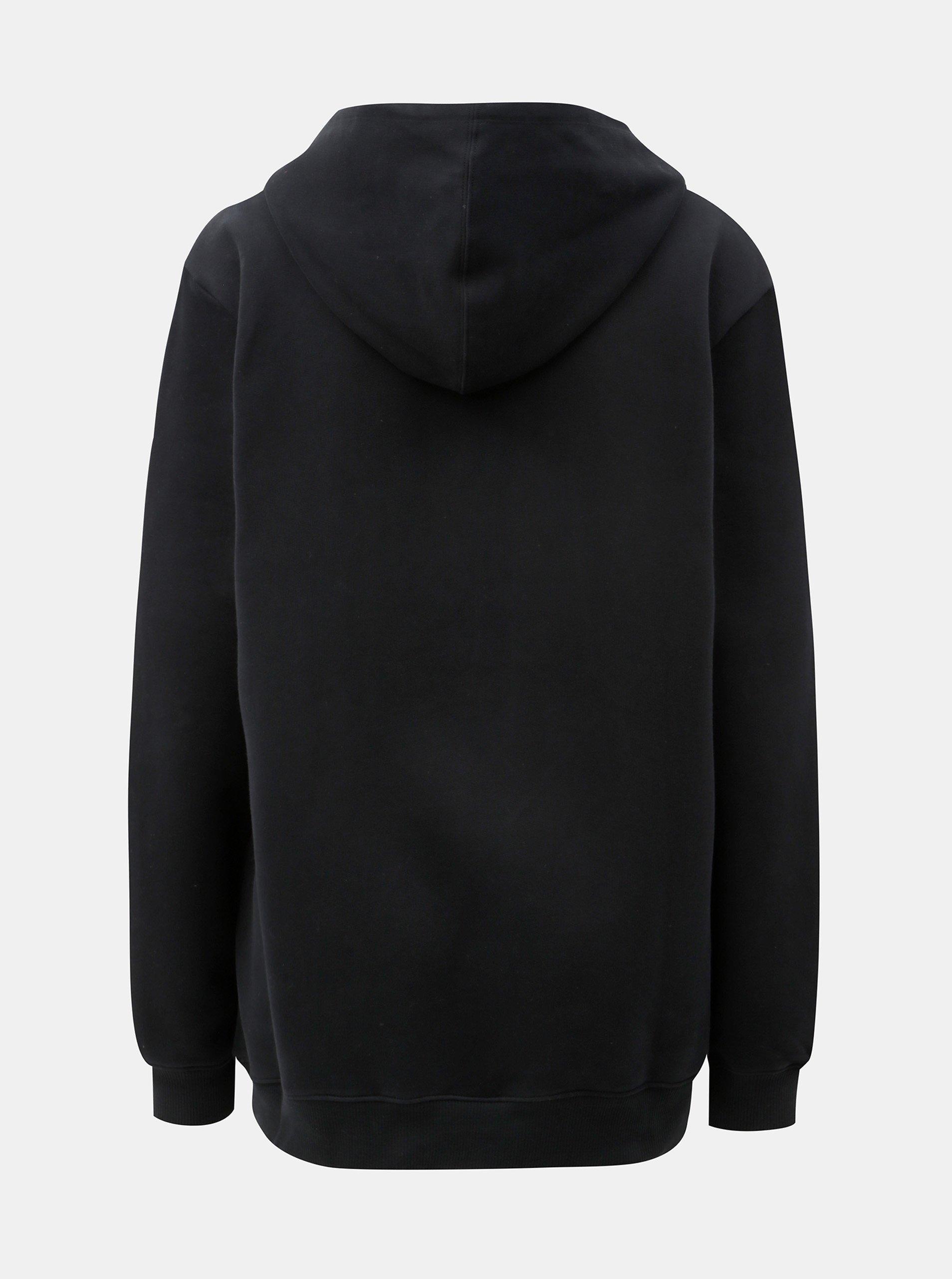 Černá dámská mikina s kapucí Calvin Klein Jeans