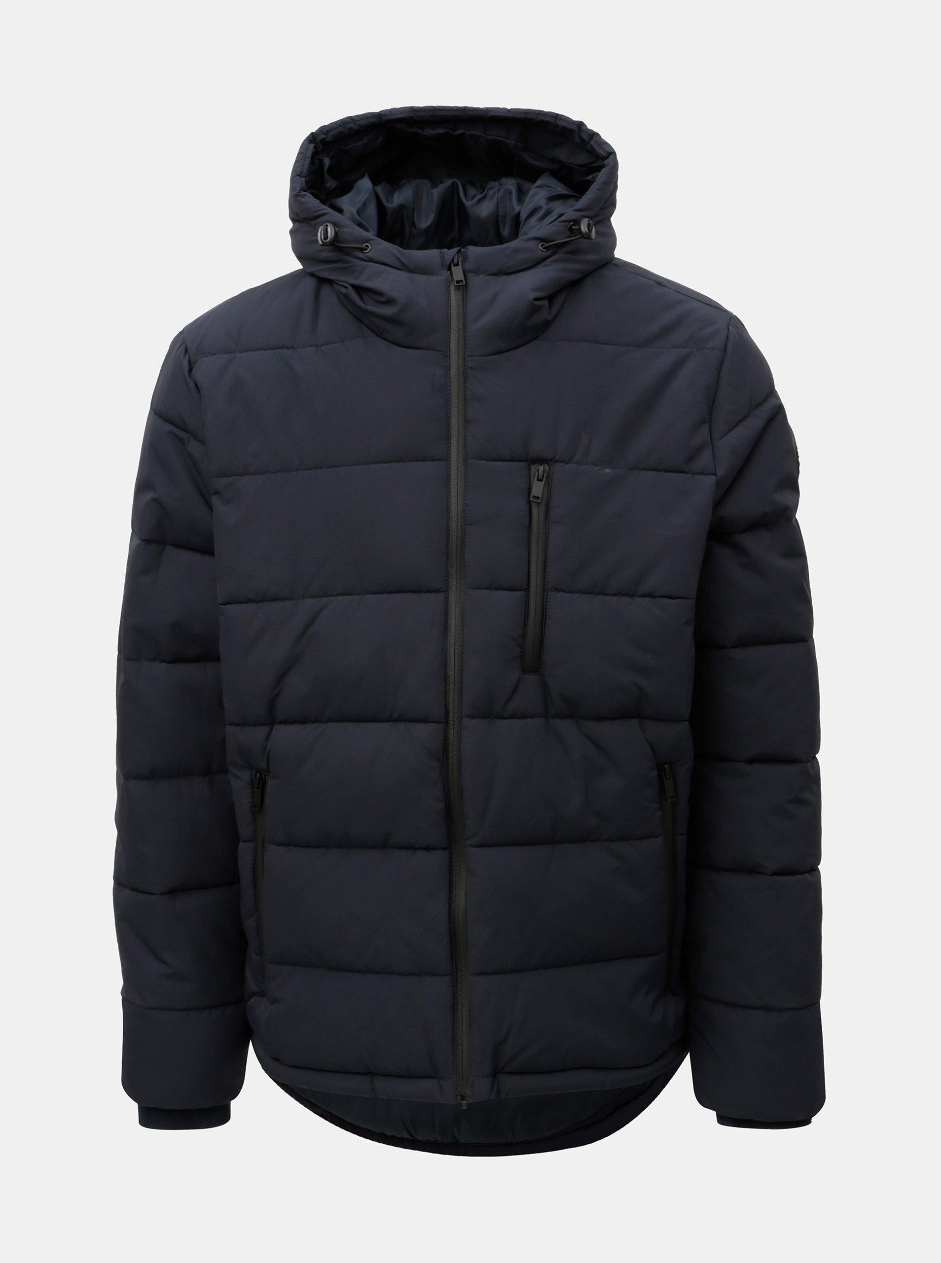 Tmavomodrá prešívaná zimná bunda Burton Menswear London Aspen