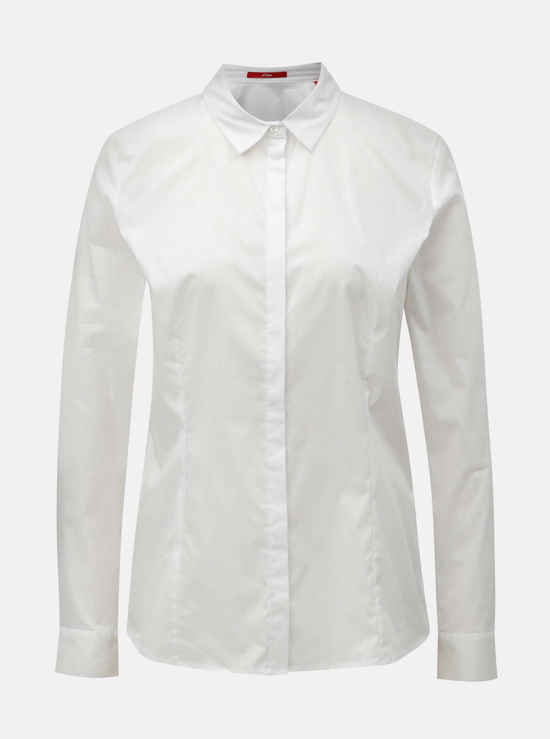 ea5c6d9143e5 Biela dámska košeľa s dlhým rukávom s.Oliver