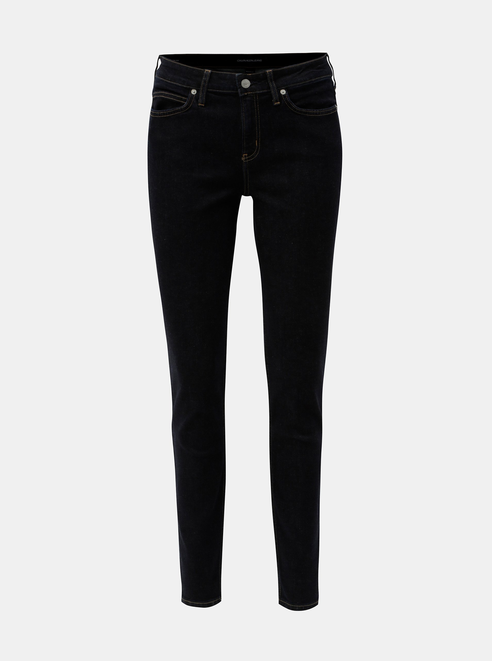 Tmavě modré dámské super skinny džíny Calvin Klein Jeans 6b5f4698e5