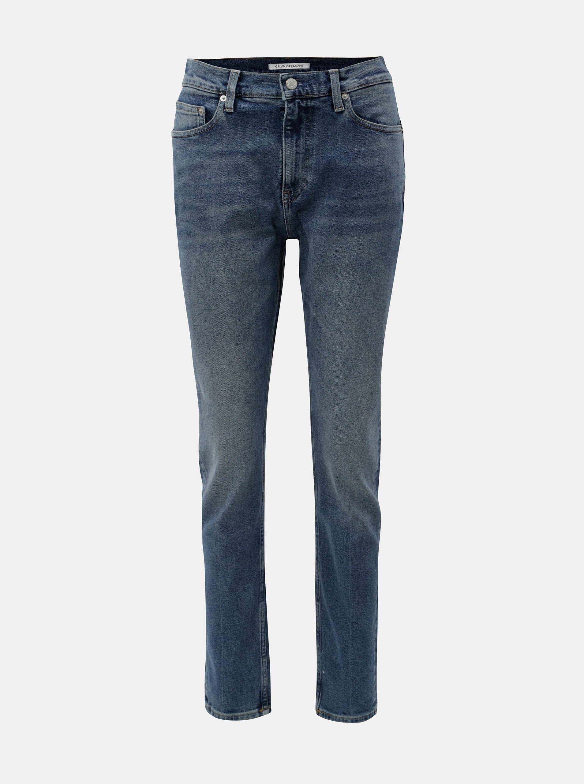 547d1dc5ffaf Modré dámske skinny rifle s vysokým pásom Calvin Klein Jeans