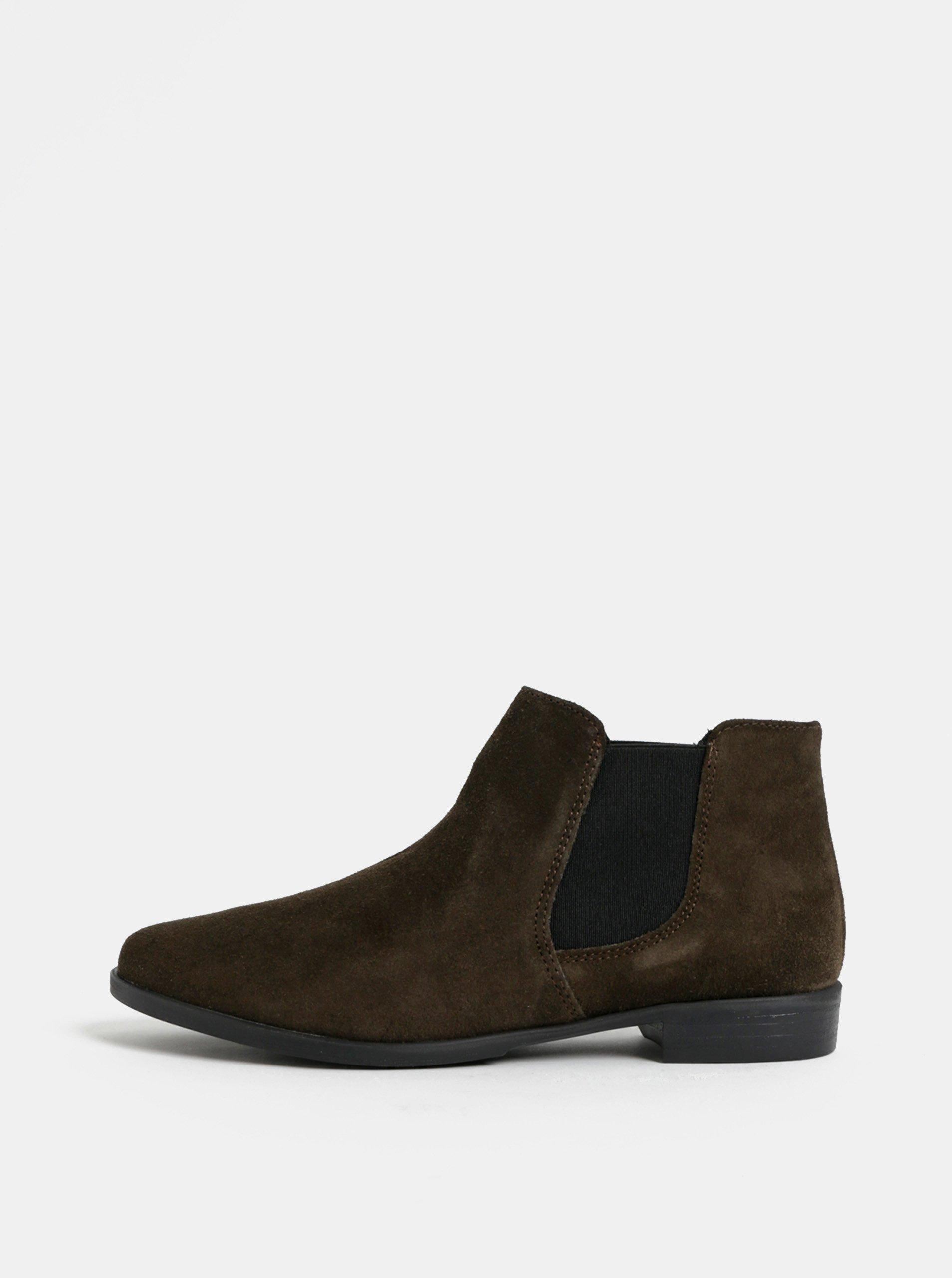 Khaki semišové chelsea boty Tamaris