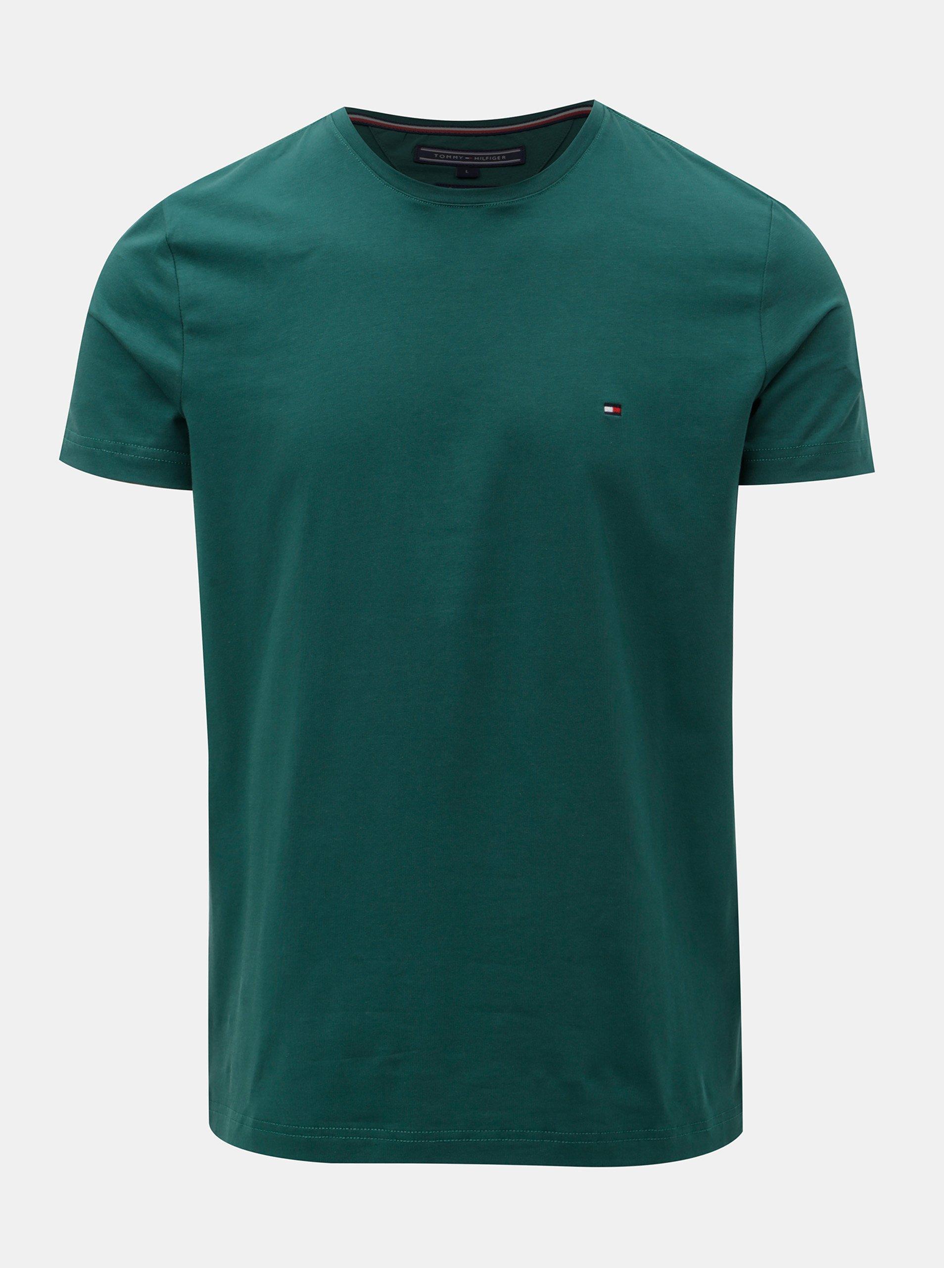 Zelené pánské slim fit tričko Tommy Hilfiger