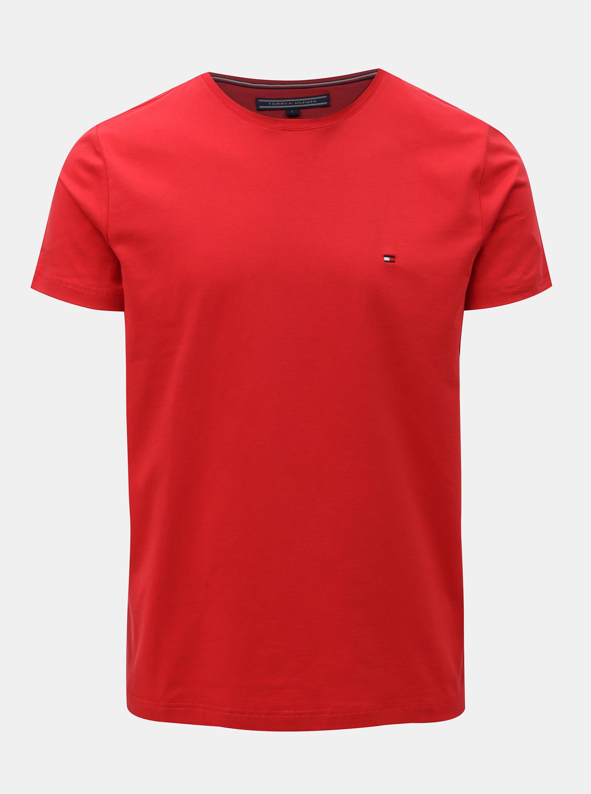 Červené pánské slim fit tričko Tommy Hilfiger