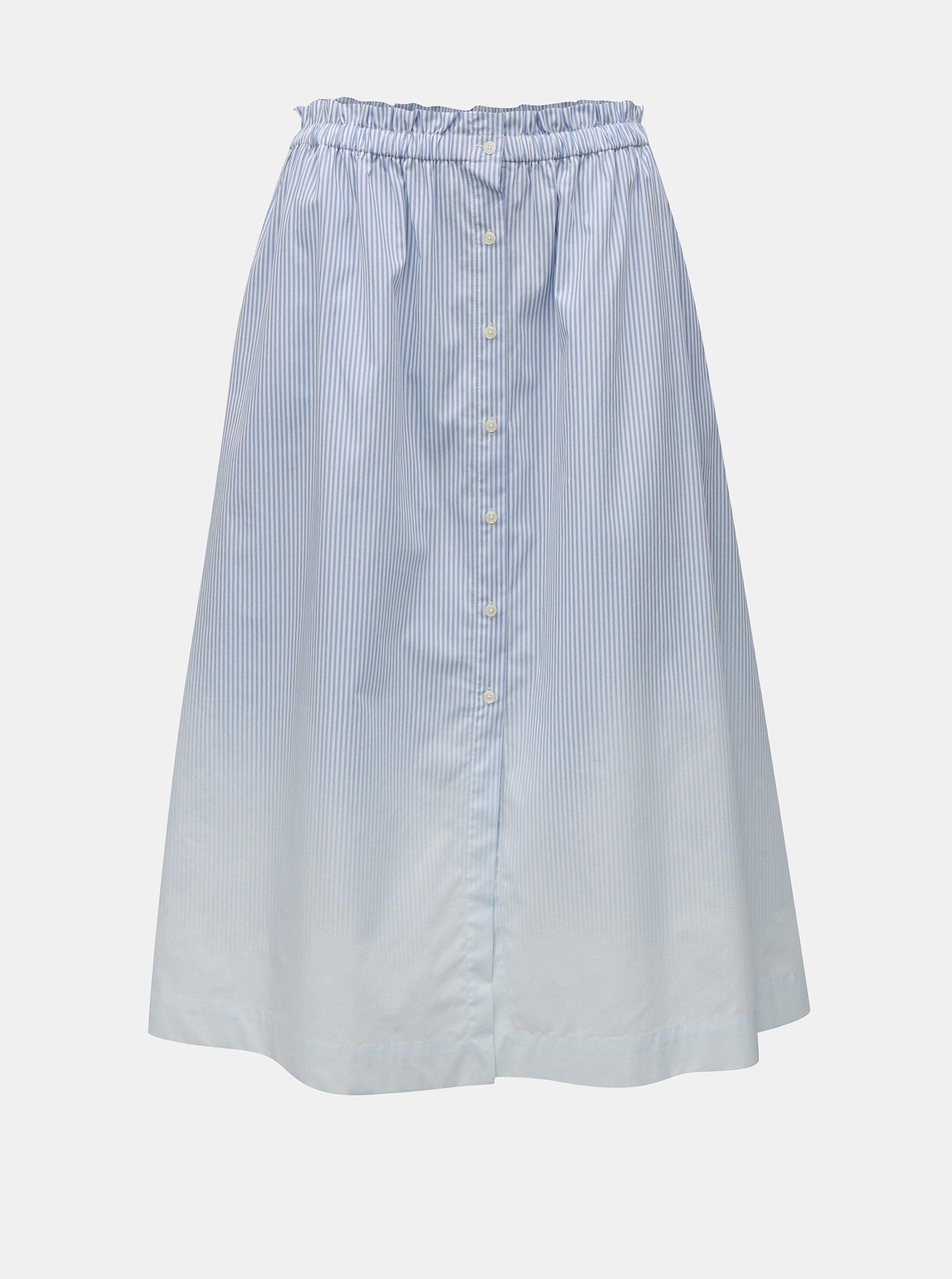 4a5df03669 Modro-biela pruhovaná sukňa na gombíky Tommy Hilfiger