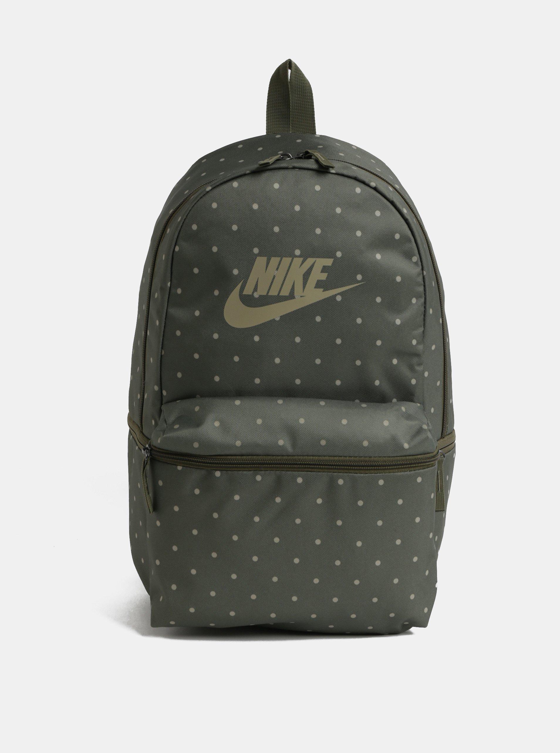 Zelený puntíkovaný batoh Nike Heritage 26 l
