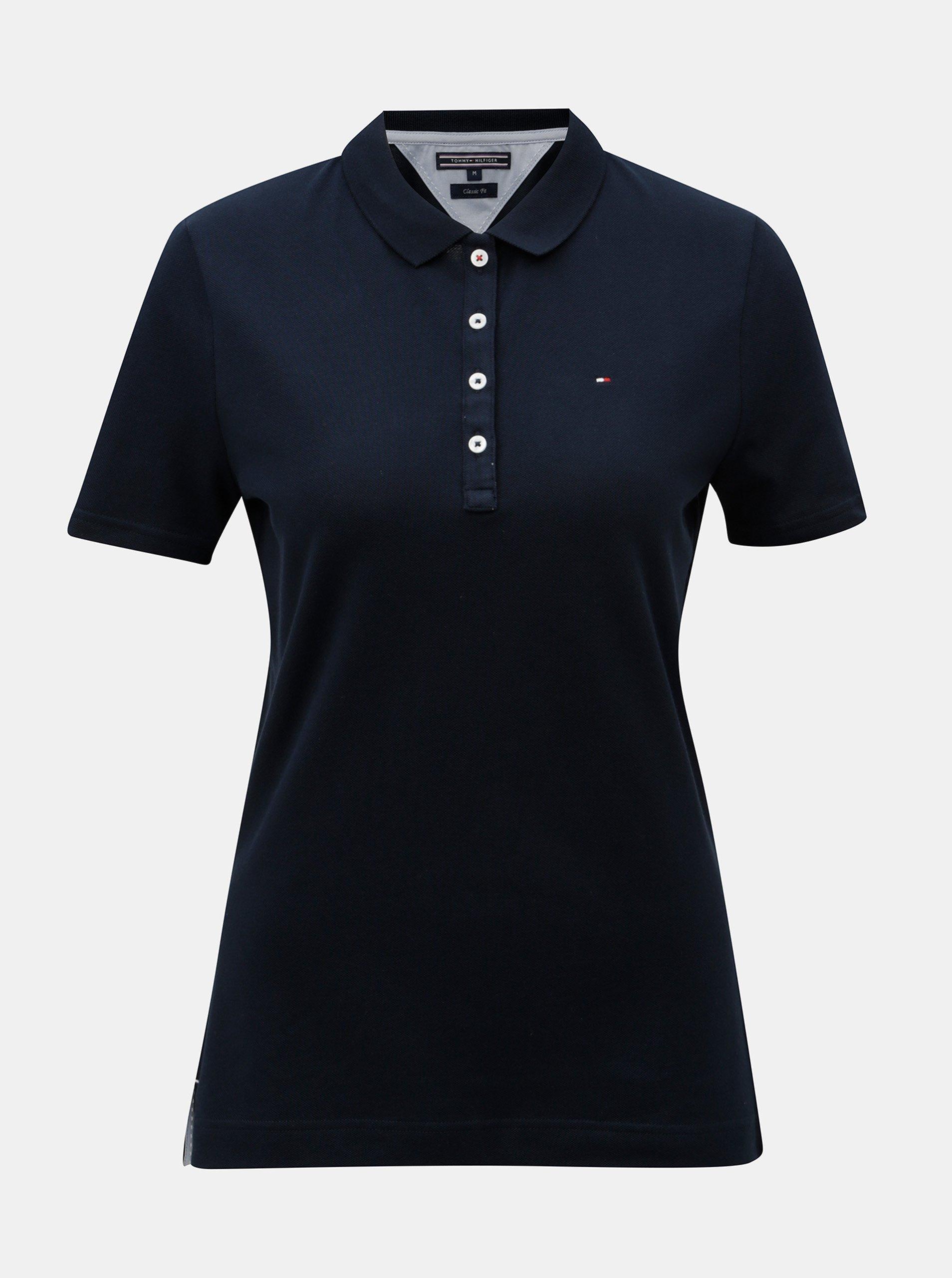 Tmavě modré dámské polo tričko Tommy Hilfiger