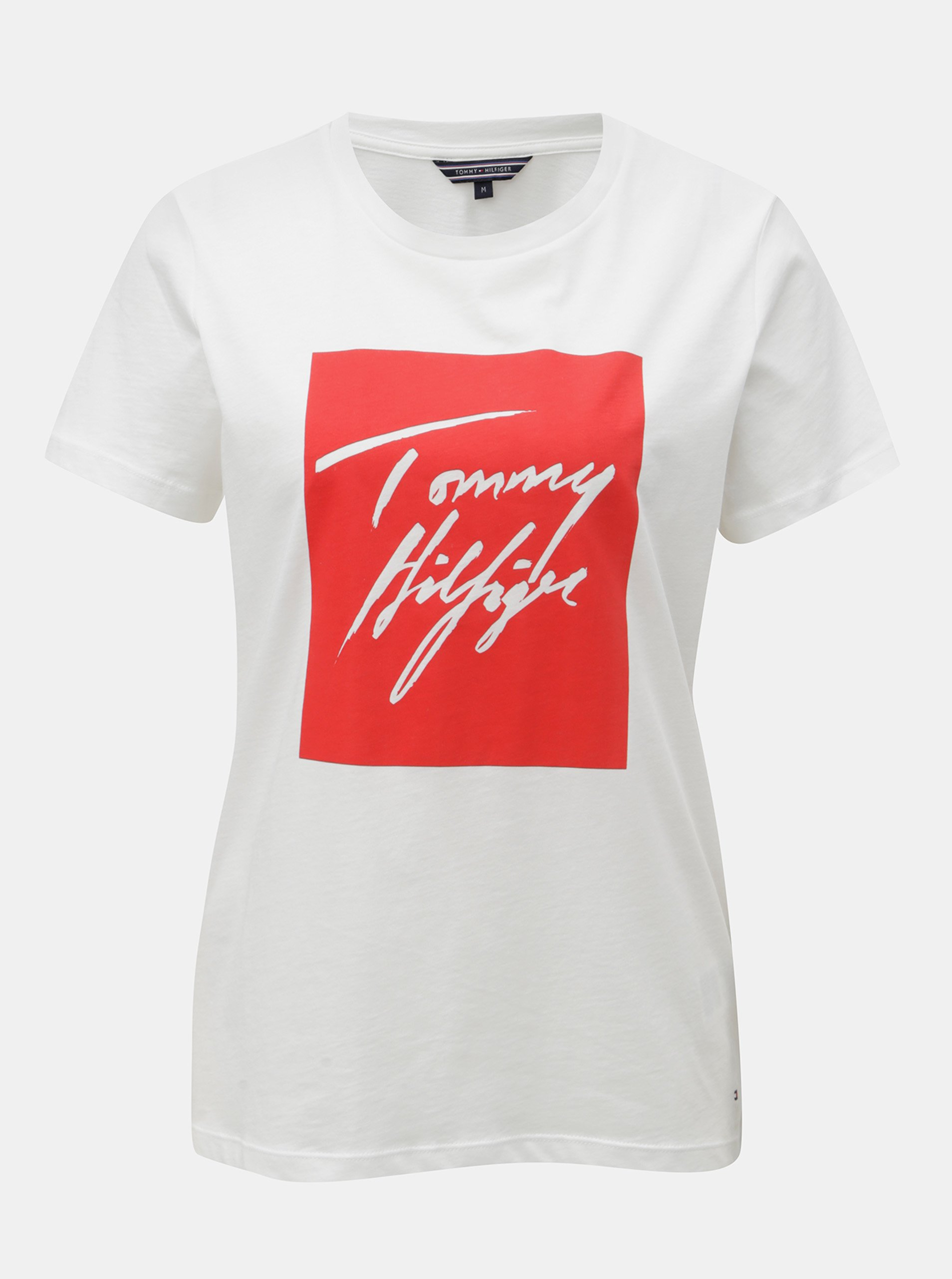 Bílé dámské tričko s potiskem Tommy Hilfiger Effy 2023711722
