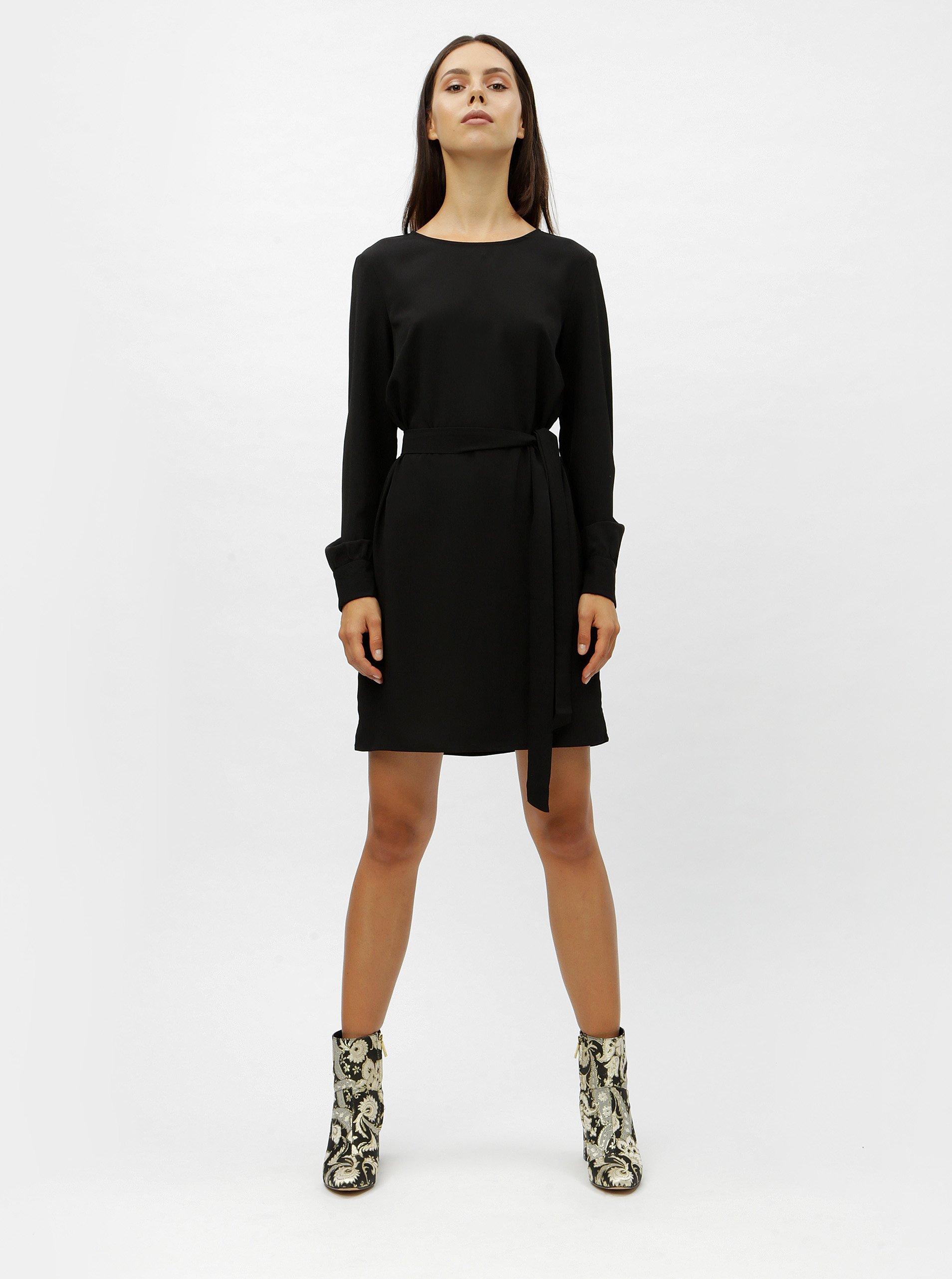 Čierne šaty s dlhým rukávom VERO MODA June