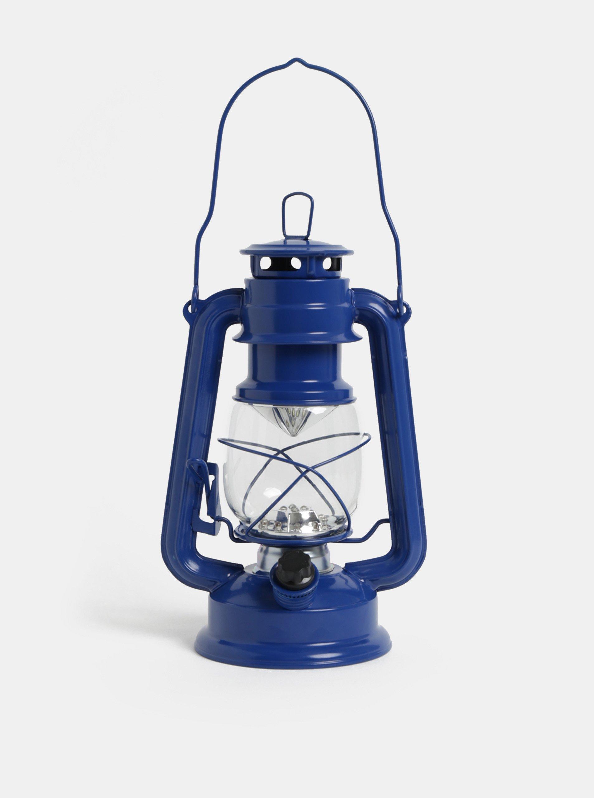 Tmavomodrý LED lampáš Kaemingk