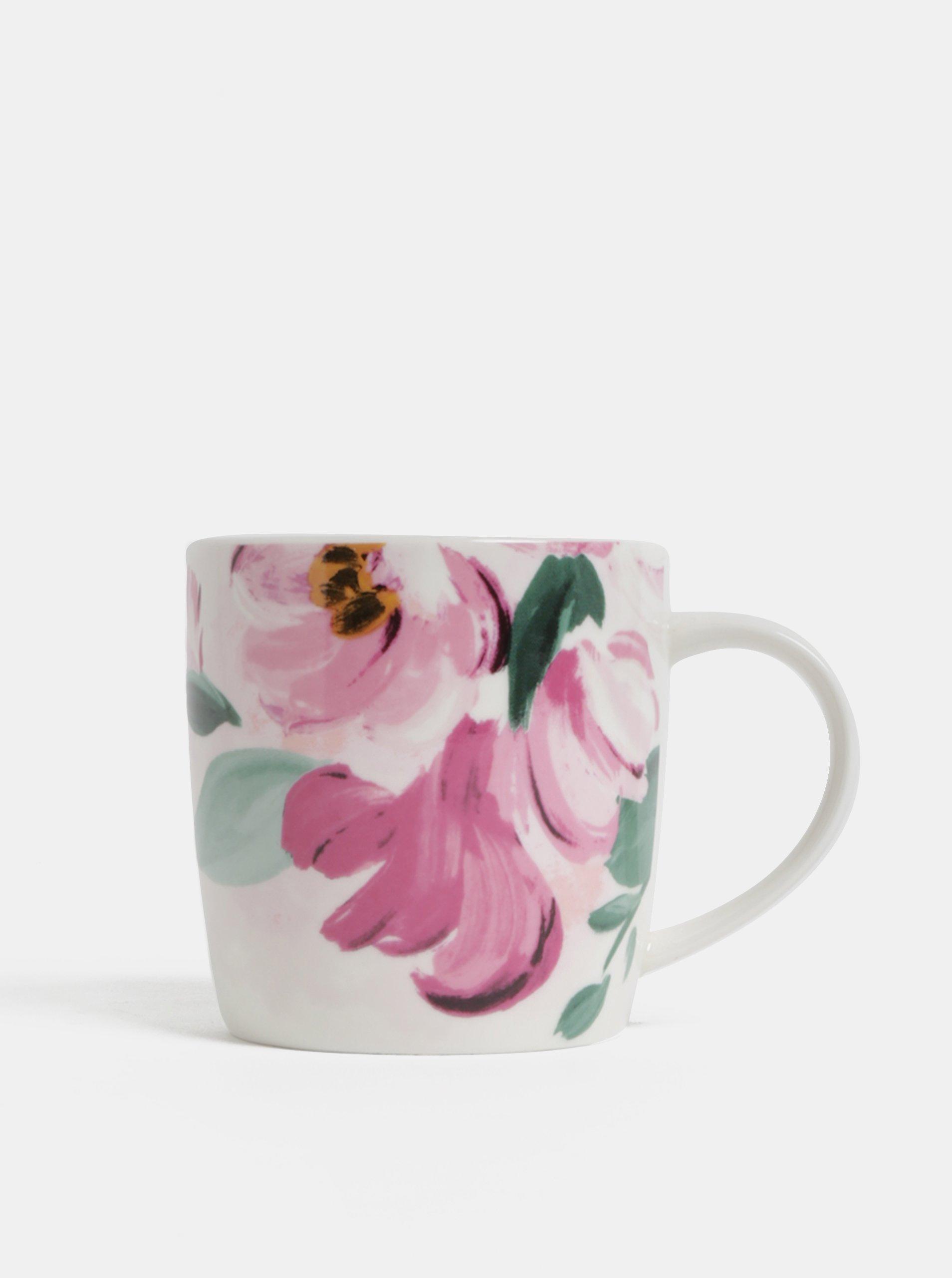 Ružovo-krémový kvetovaný hrnček Cath Kidston 250 ml