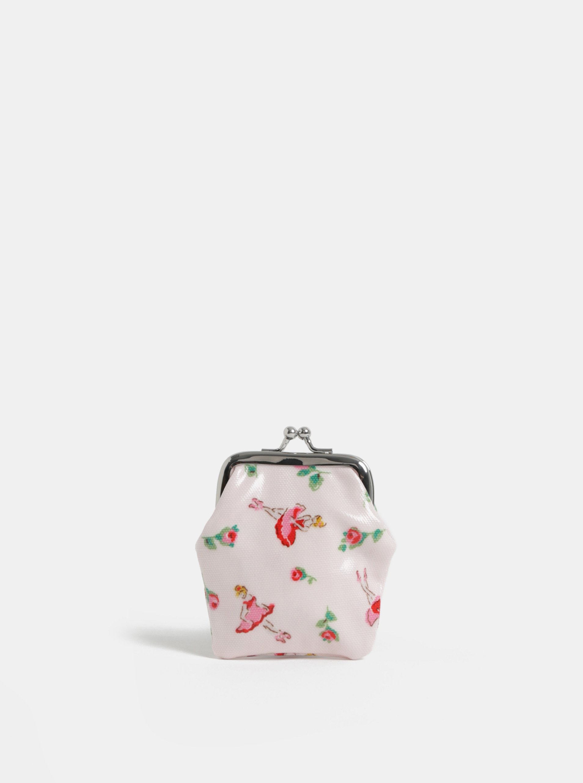 Světle růžová holčičí peněženka na mince se vzorem baletek Cath Kidston