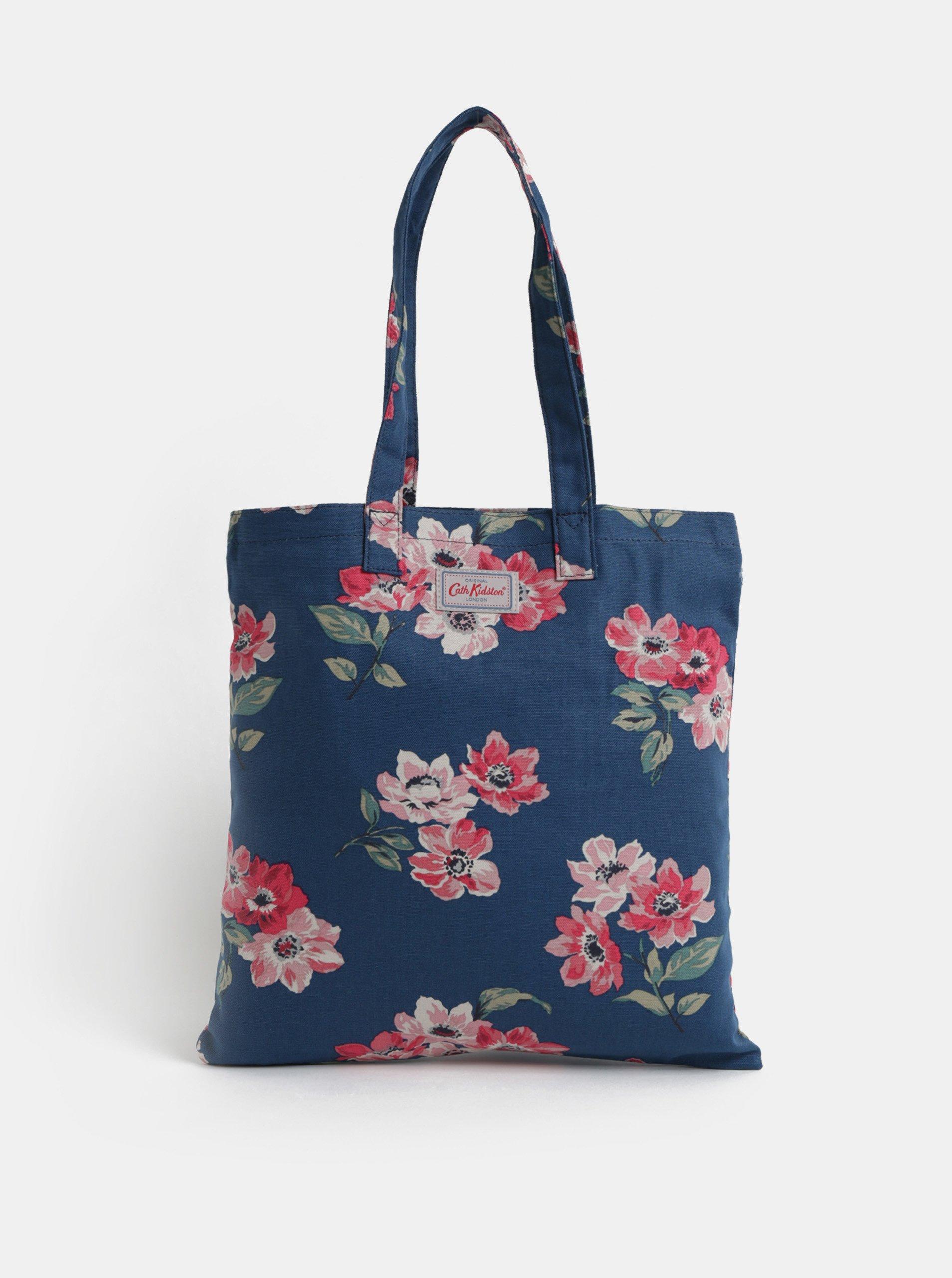 Tmavě modrá dámská květovaná taška Cath Kidston