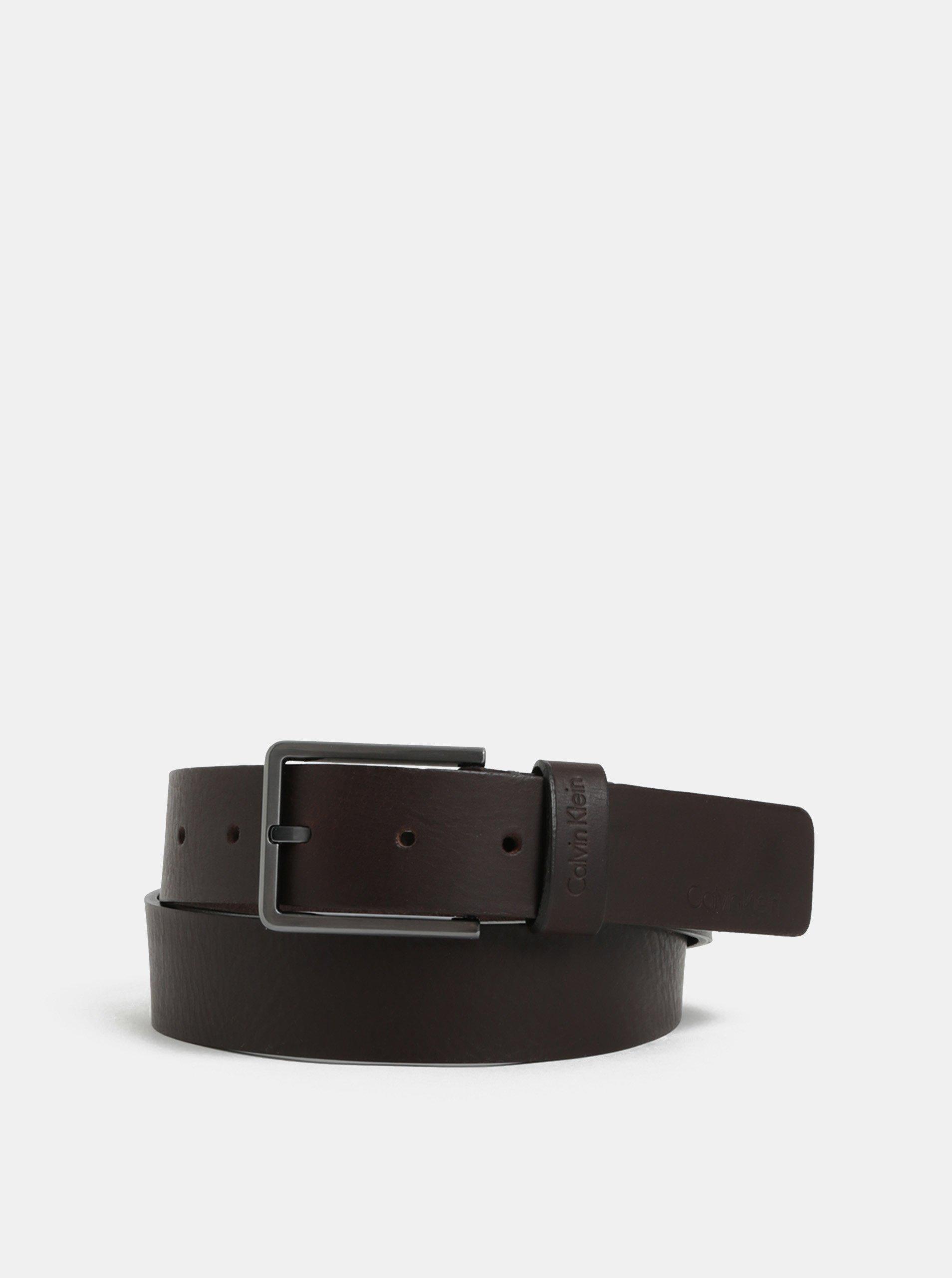 12e408e30f0 Čierny pánsky kožený opasok Calvin Klein Jeans