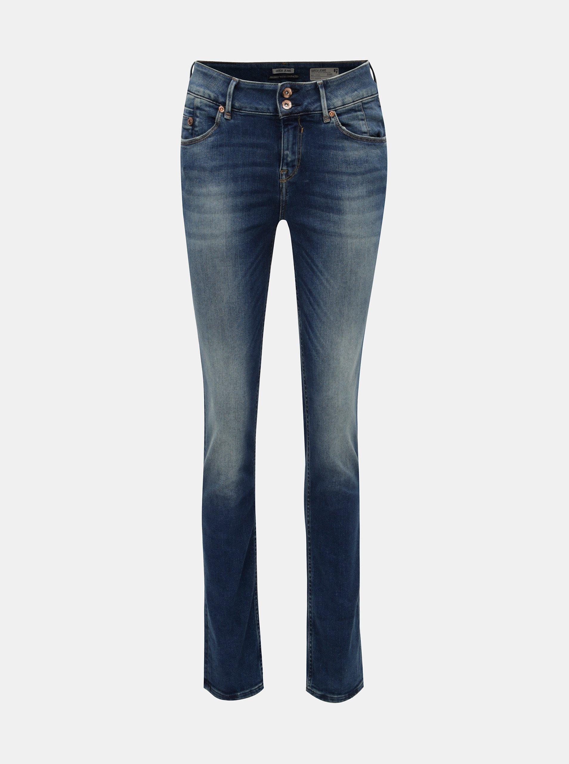 26402927060 Modré dámské slim fit džíny s vyšisovaným efektem Garcia Jeans