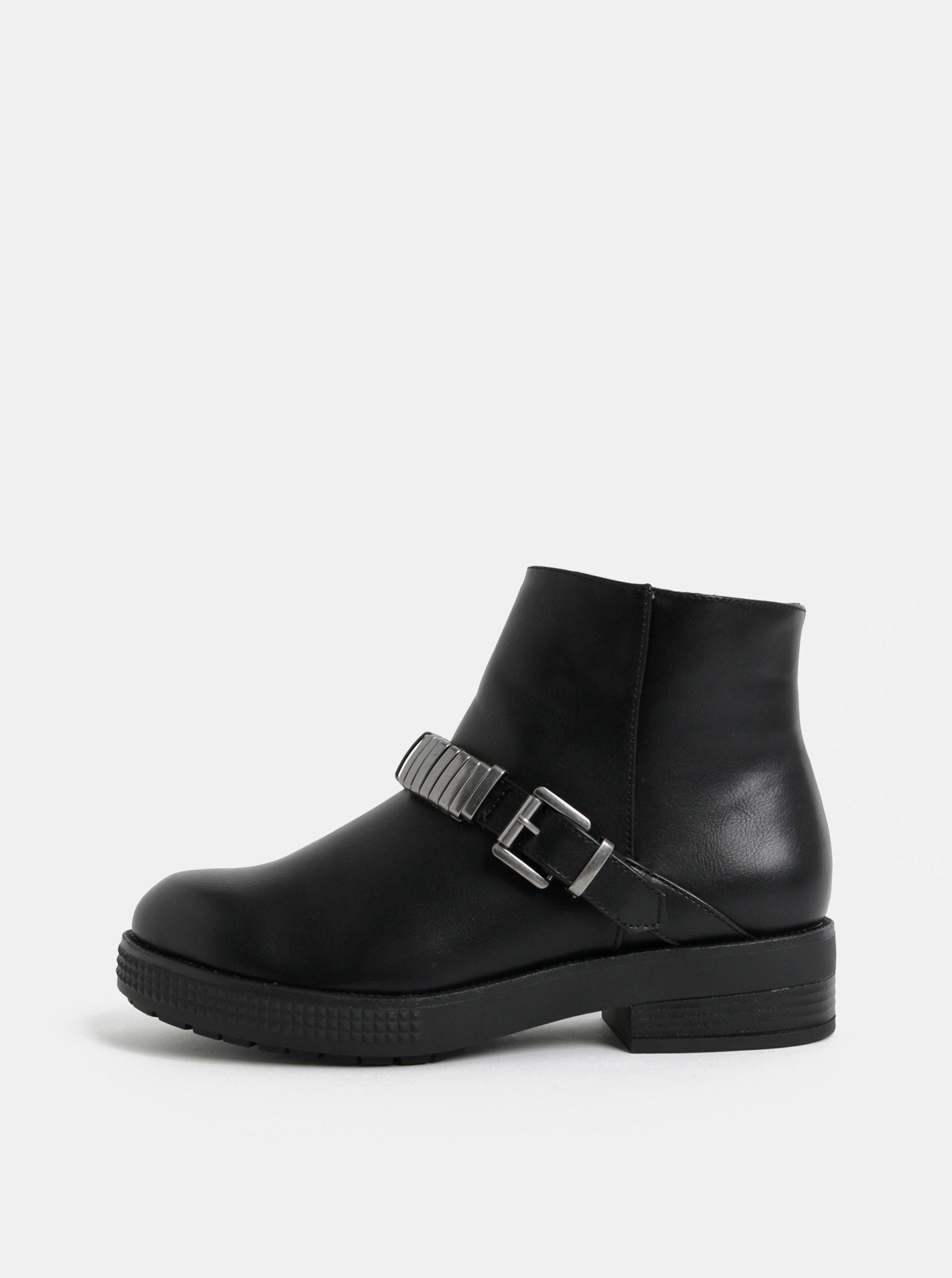 Damske kotnikove boty s protektorem cerne levně  eebe5f31f9
