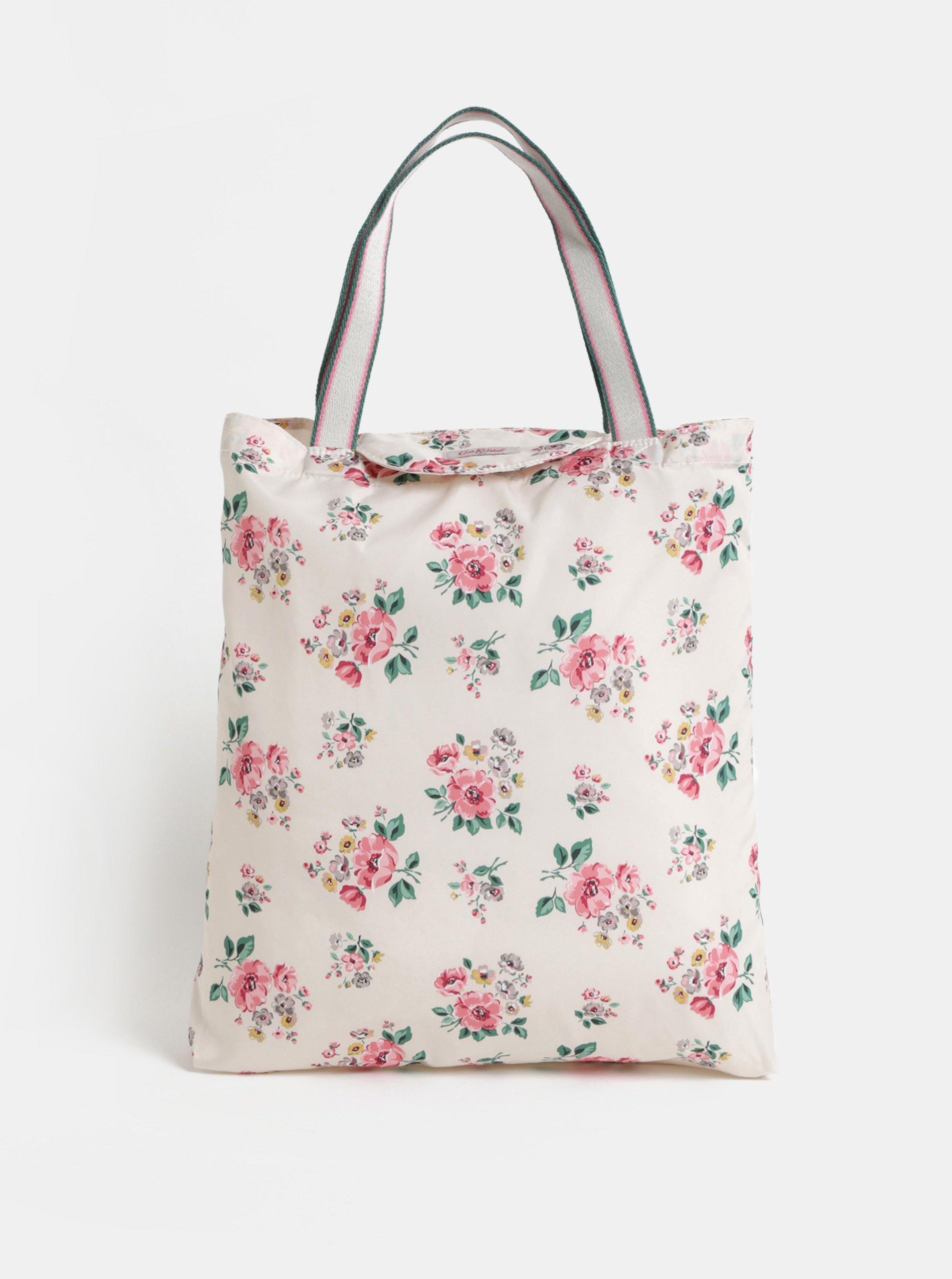 Světle růžová květovaná taška Cath Kidston