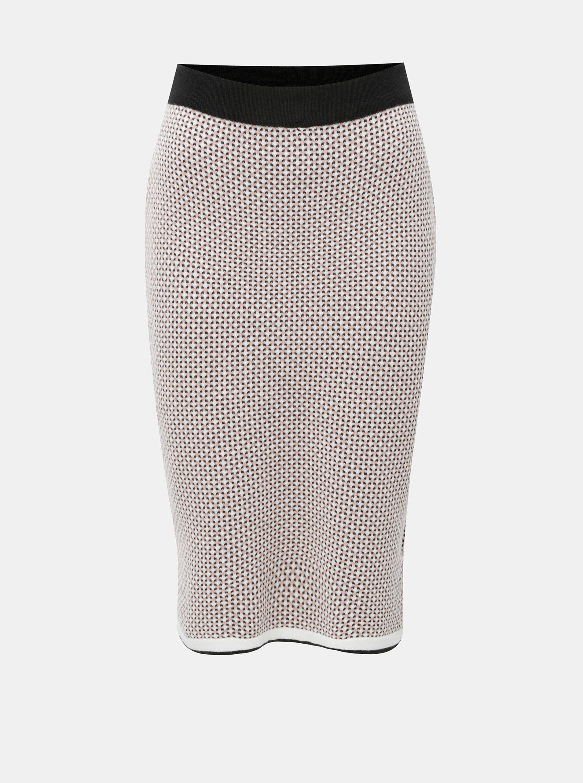 b3b6805c90d Černo-růžová pouzdrová pletená vzorovaná sukně Dorothy Perkins