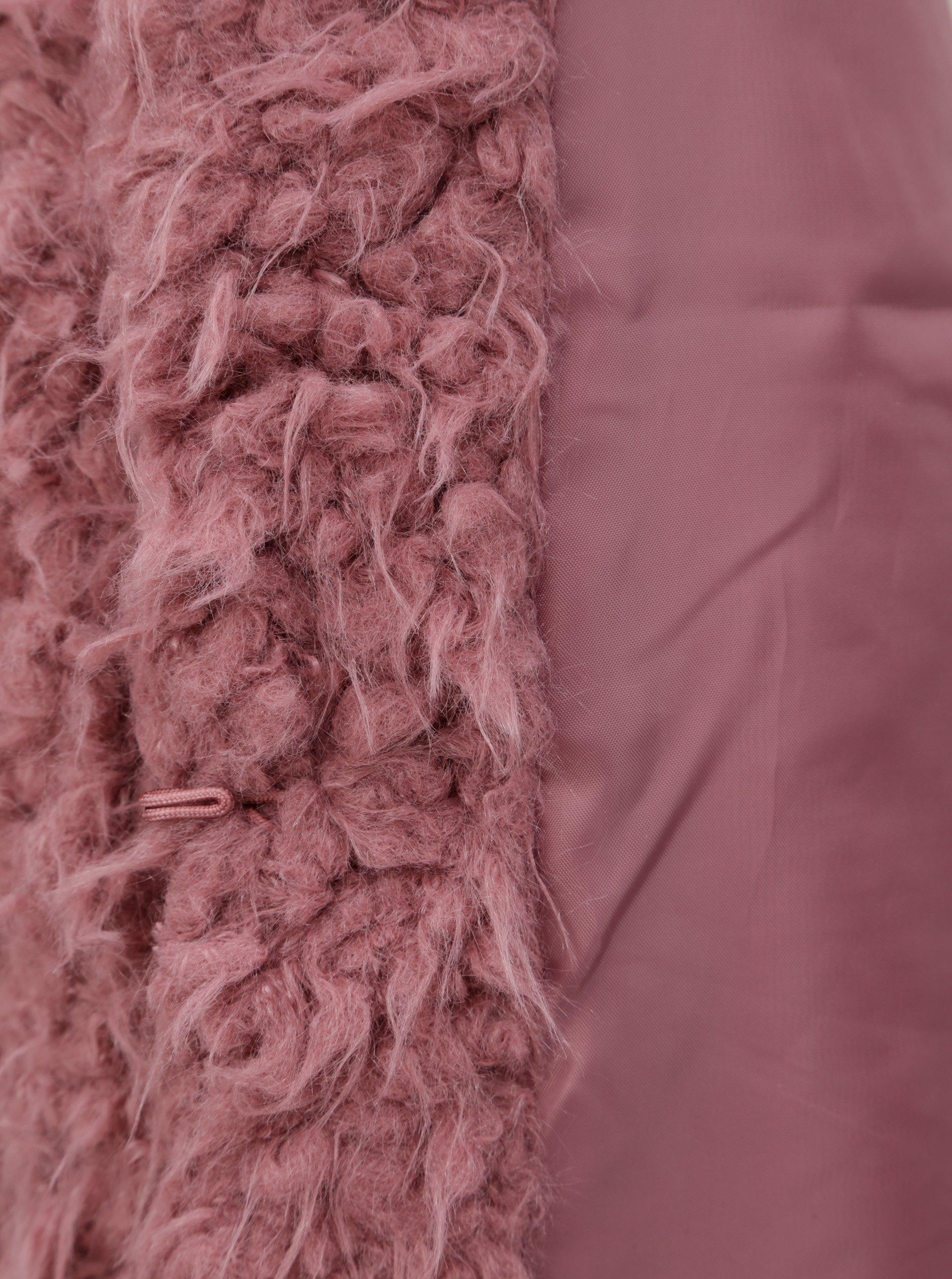 Tmavě růžový krátký kabát Jacqueline de Yong