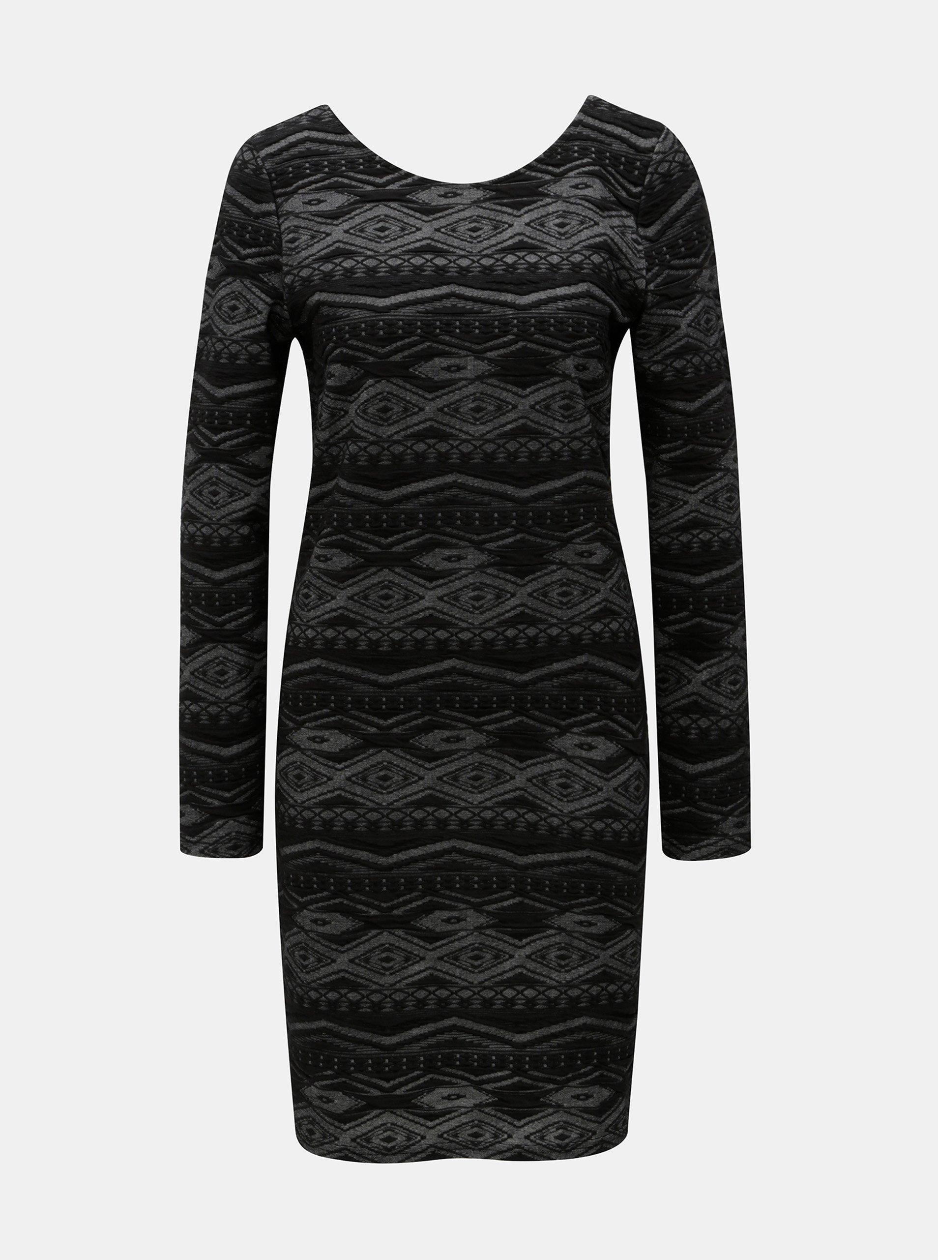 Čierne puzdrové vzorované šaty ONLY 608fa5e6cb5
